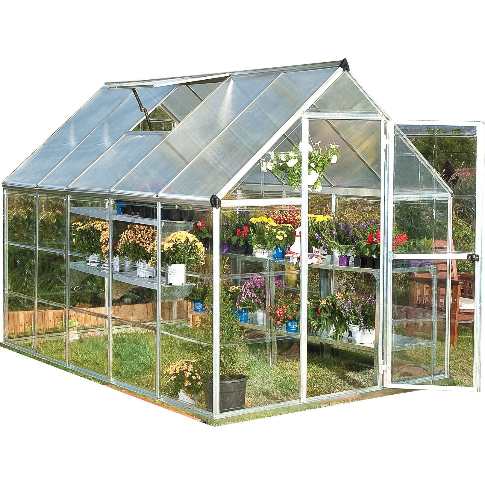 Hybrid 6 Ft. W X 10 Ft. D Cold Frame Greenhouse