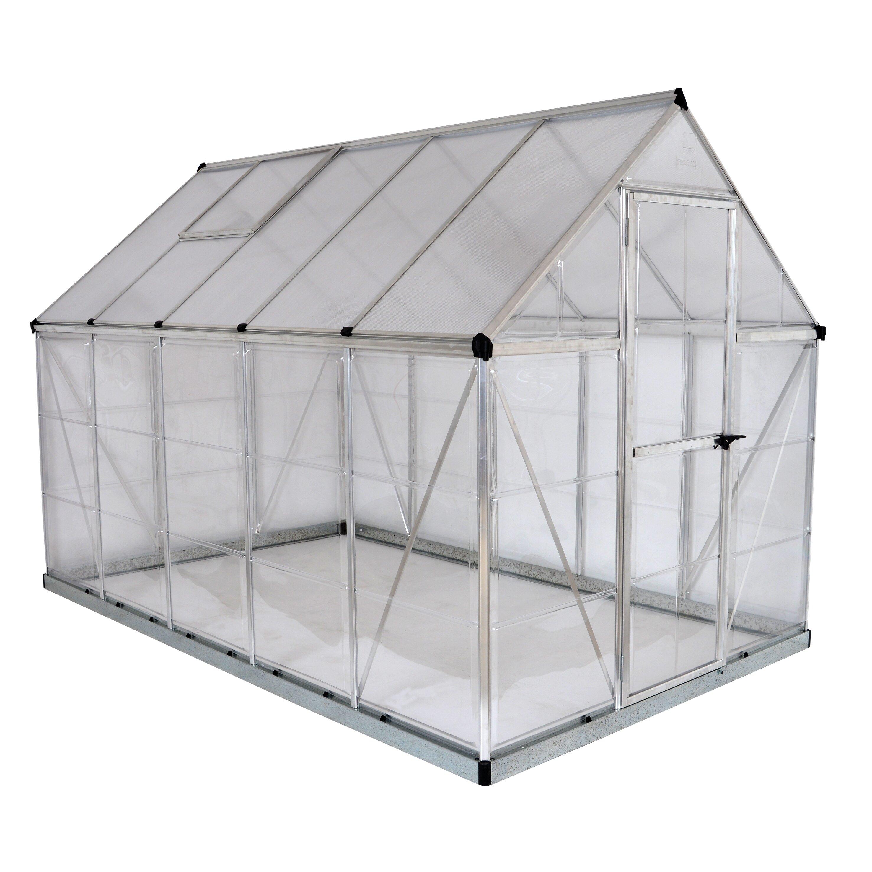 Palram Hybrid 6 Ft. W X 10 Ft. D Cold Frame Greenhouse