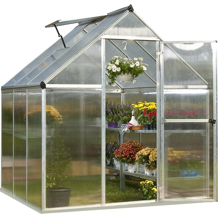 palram nature twin 6 ft w x 6 ft d greenhouse reviews. Black Bedroom Furniture Sets. Home Design Ideas