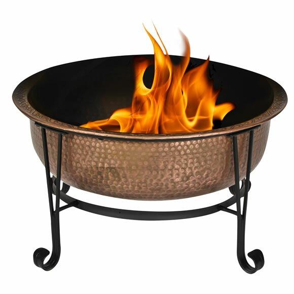 Cobraco Copper Wood Fire Pit Amp Reviews Wayfair Uk