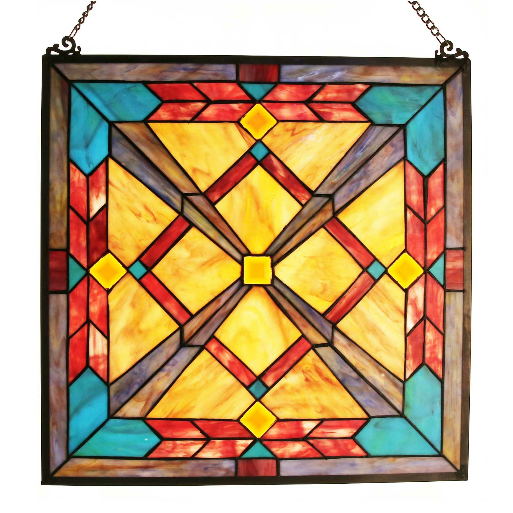 of goods southwest sunset tiffany style stained glass window panel