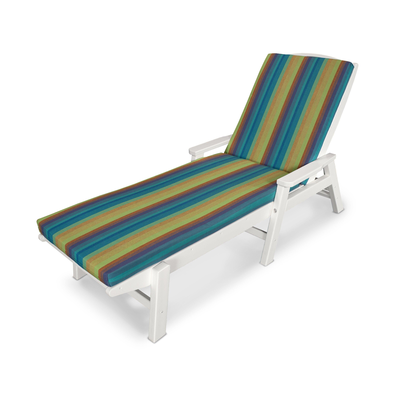 Outdoor sunbrella chaise lounge cushion wayfair for Chaise cushions on sale