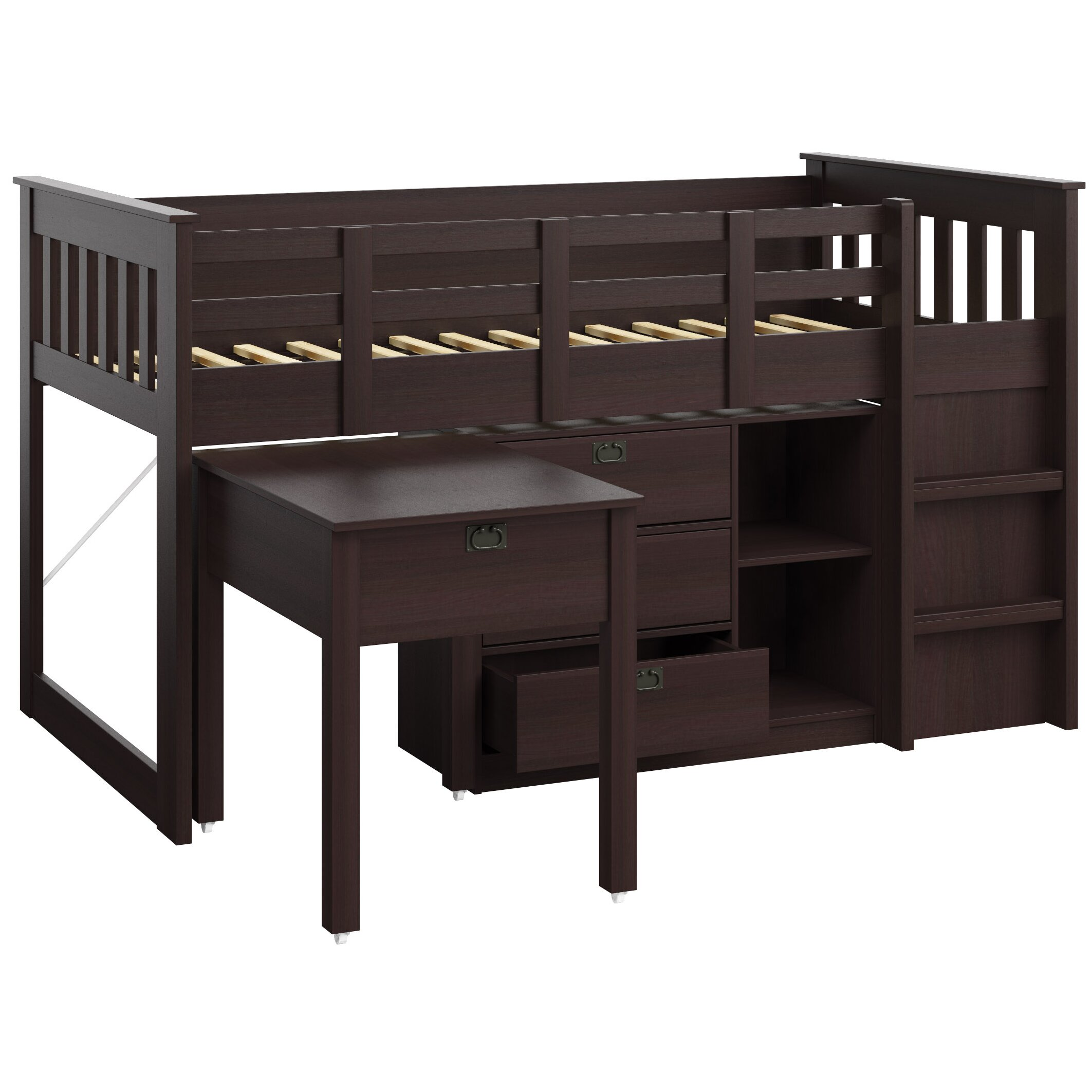 Corliving Madison Twin Low Loft Bed With Storage Amp Reviews