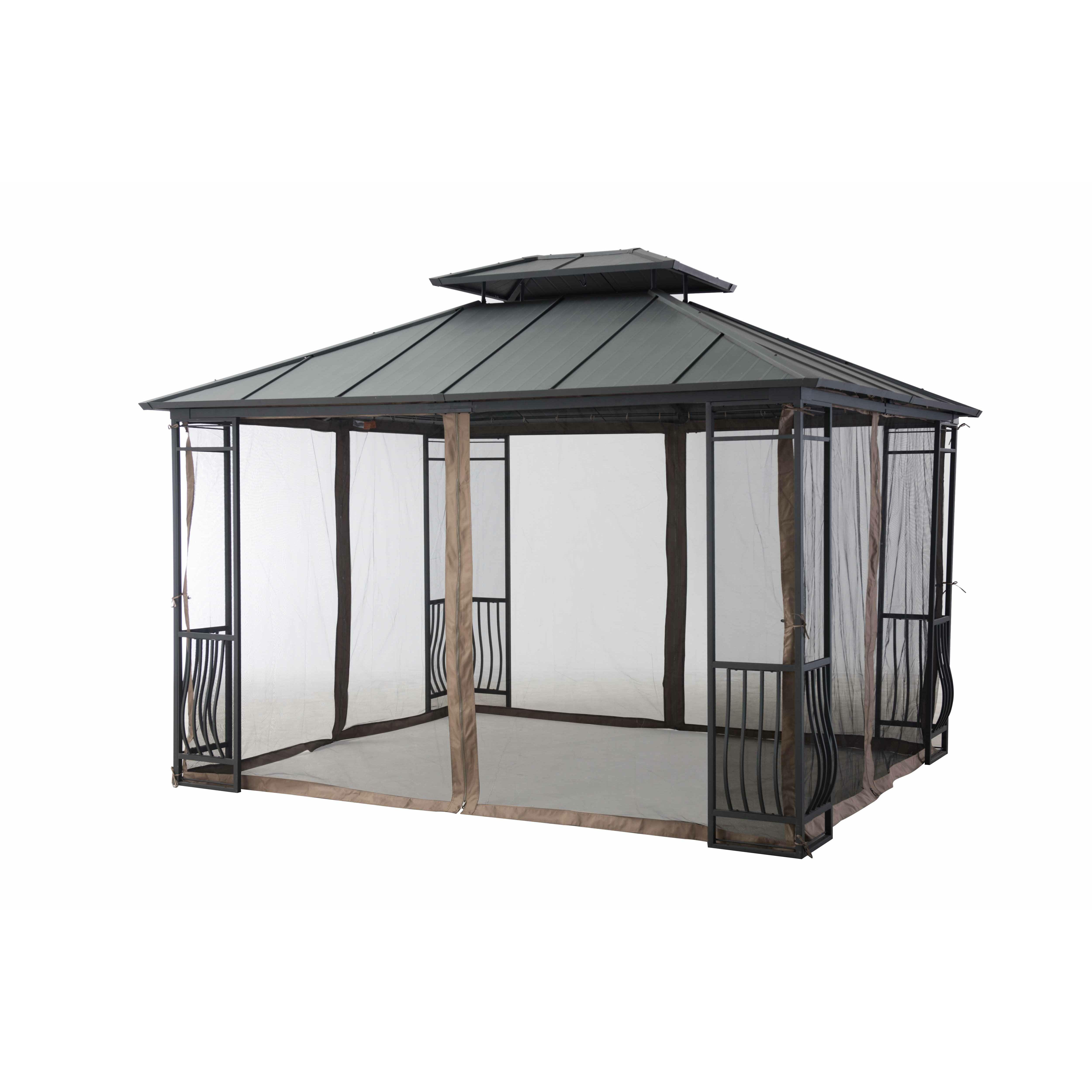 10 Ft 10 Ft Canopy : Sunjoy universal netting for ft gazebo