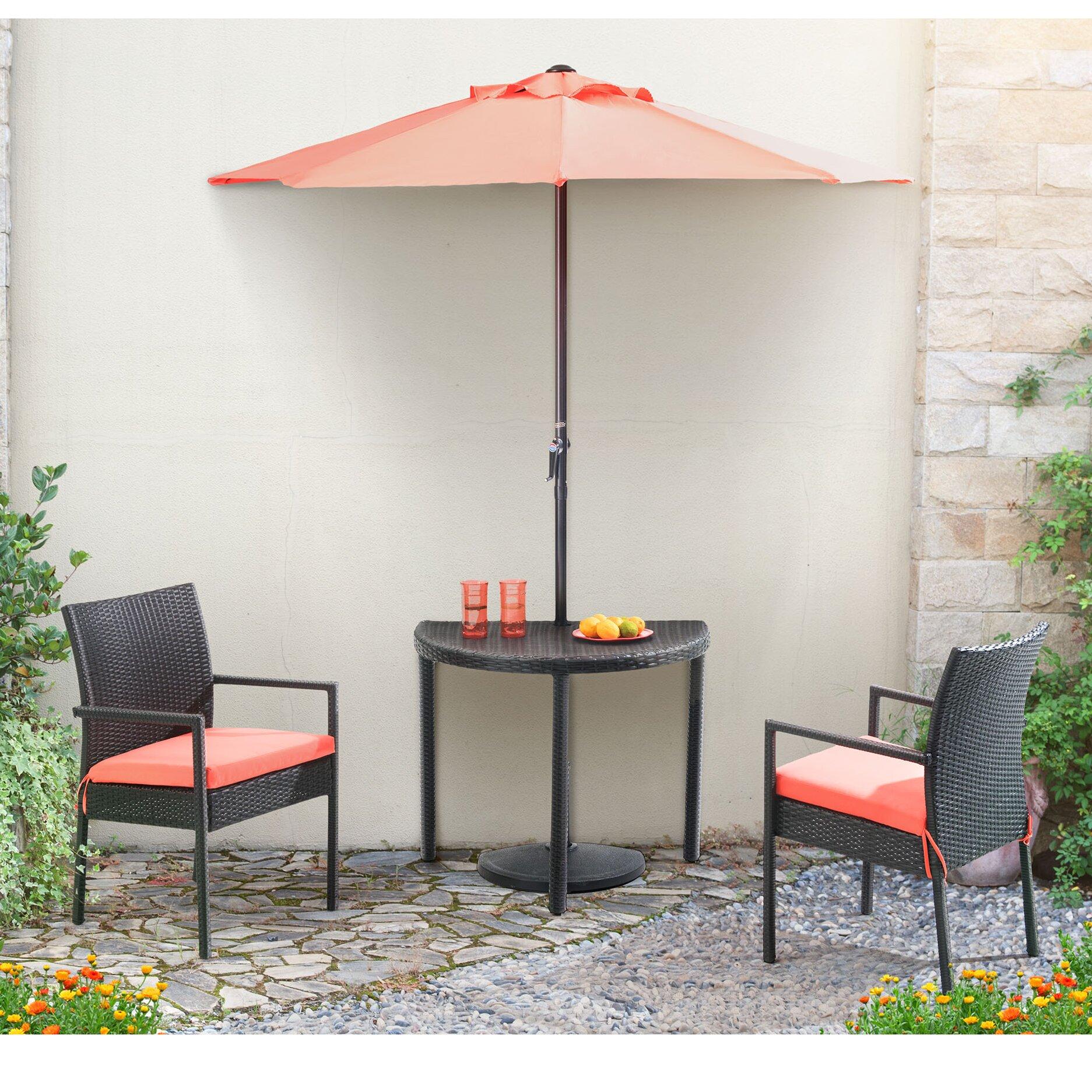 #8F4E3C Balcony 4 Piece Dining Set With Cushions Wayfair Brand New 5631 Sunjoy  Patio Heater