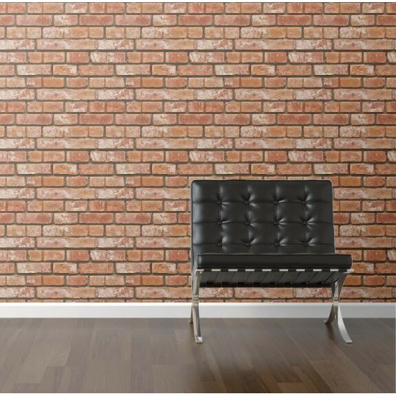 Walls need love removable 8 39 x 20 brick panel wallpaper for Removable wallpaper wood paneling