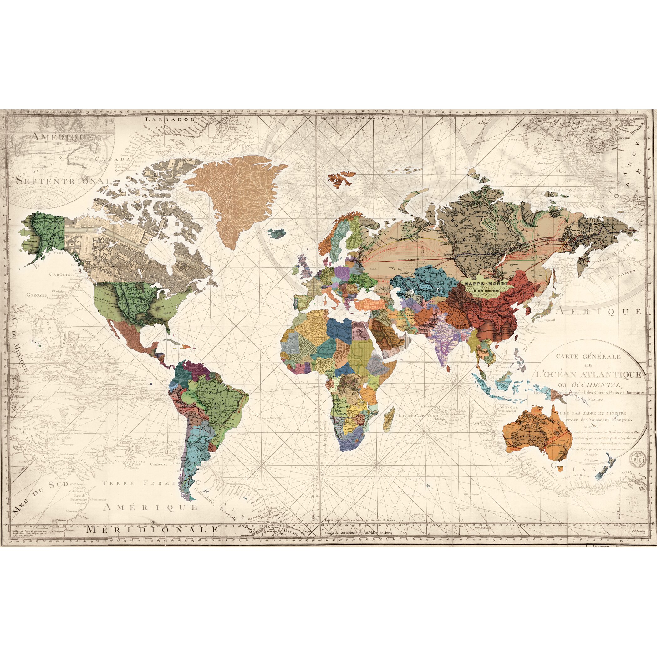 World Map of Maps by Studio Voltaire Graphic Art on ...