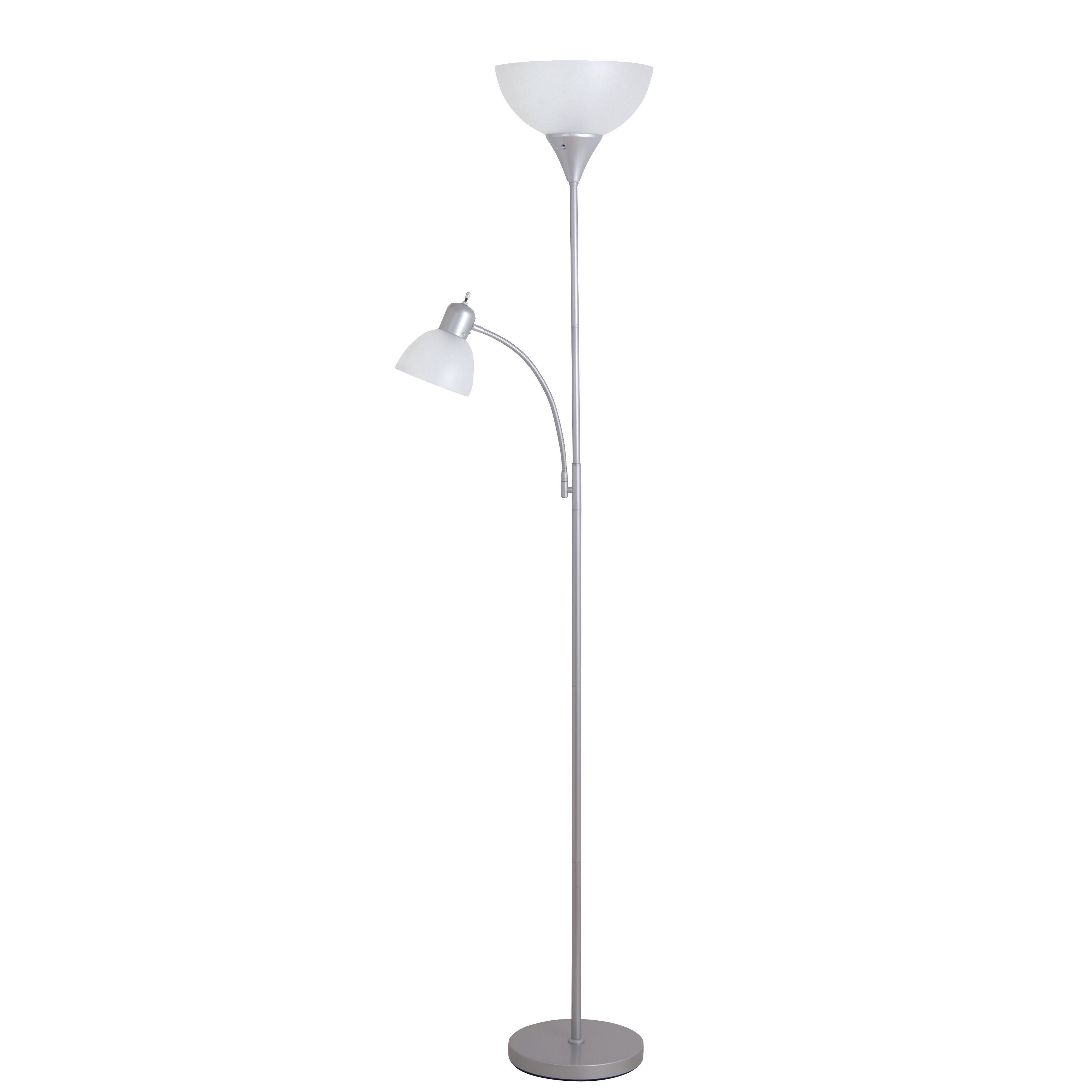 torchiere floor lamp with reading light reviews wayfair. Black Bedroom Furniture Sets. Home Design Ideas