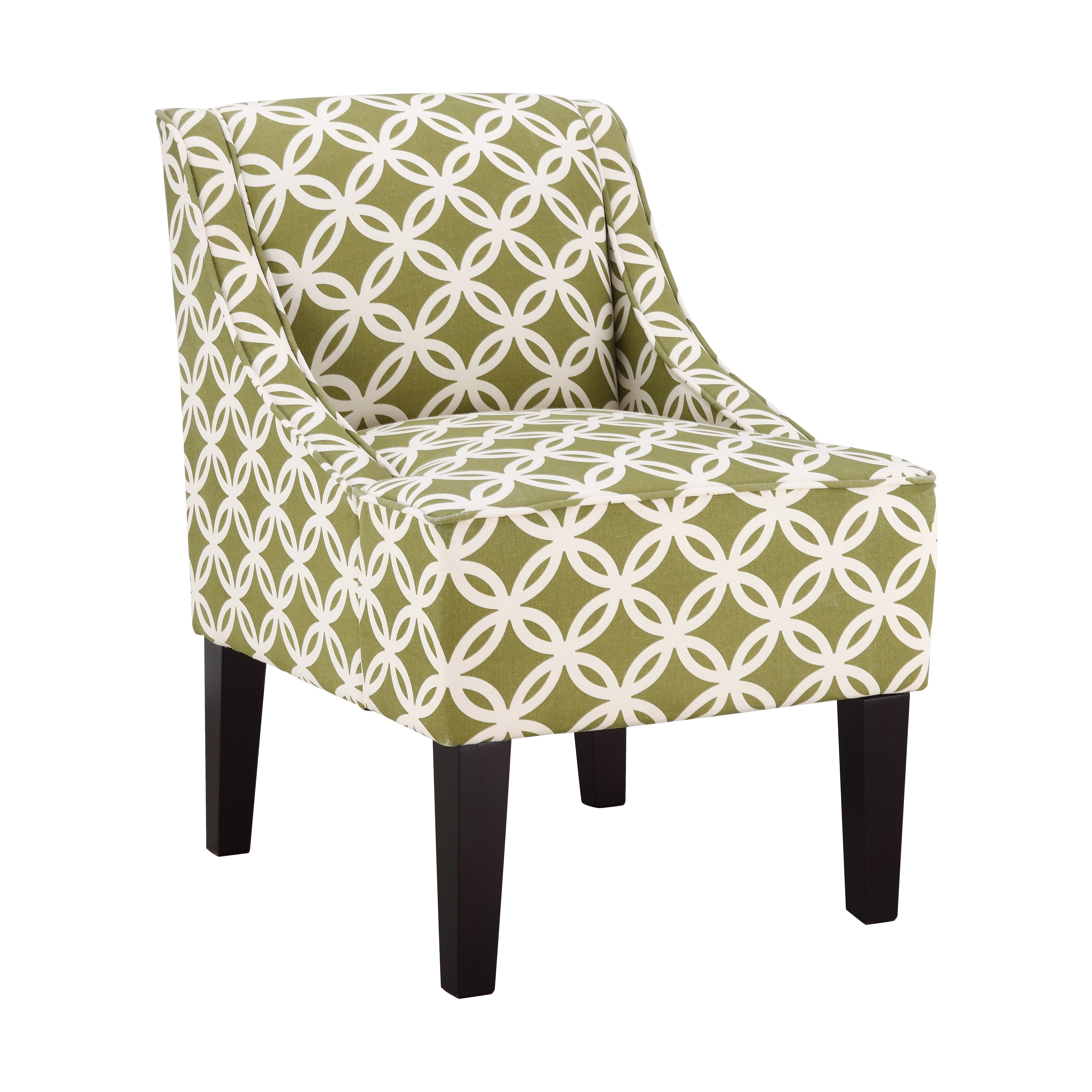 Fretwork Swoop Chair in Green