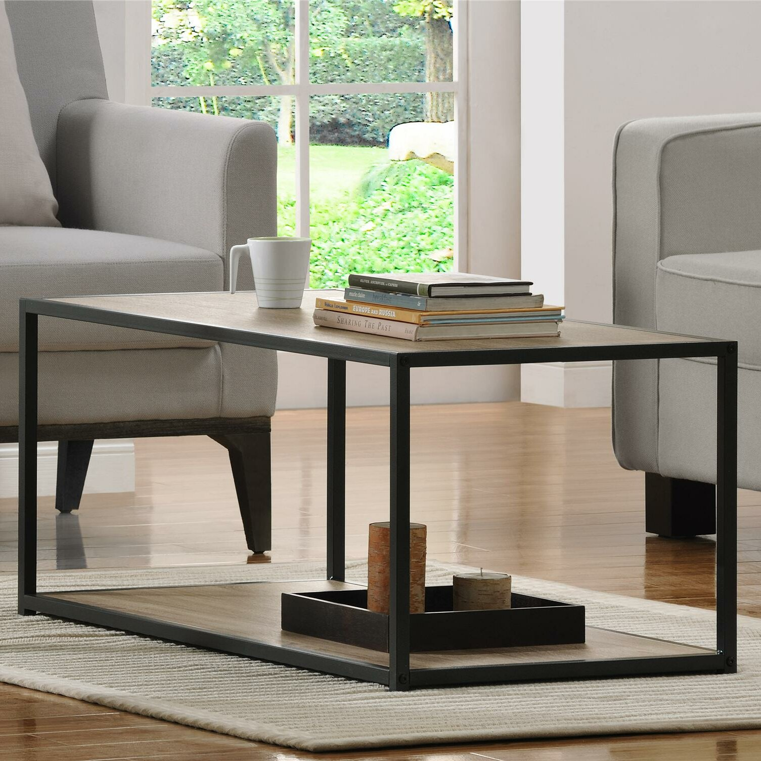 Young Industrial Coffee Table: Zipcode™ Design Clarissa Industrial Coffee Table & Reviews