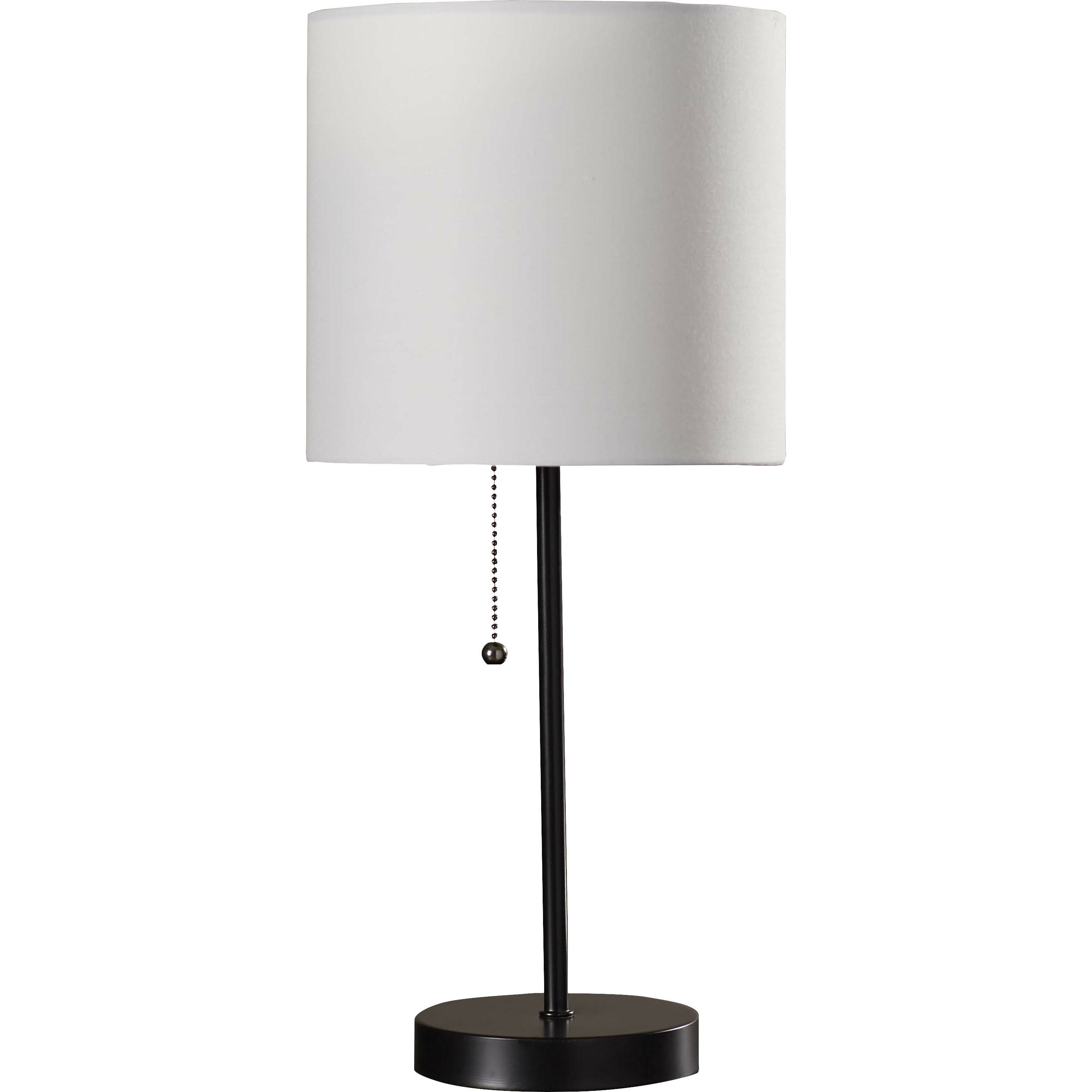 design tom 19 table lamp with drum shade reviews wayfair. Black Bedroom Furniture Sets. Home Design Ideas