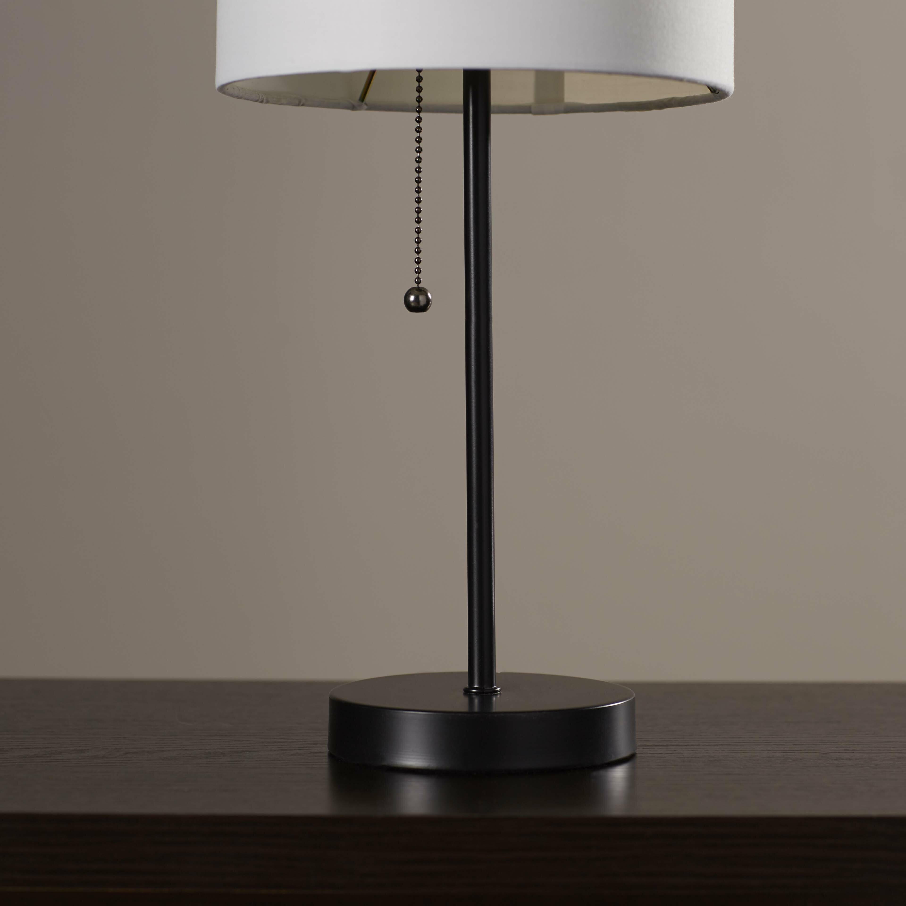 zipcode design tom 19 table lamp with drum shade reviews. Black Bedroom Furniture Sets. Home Design Ideas