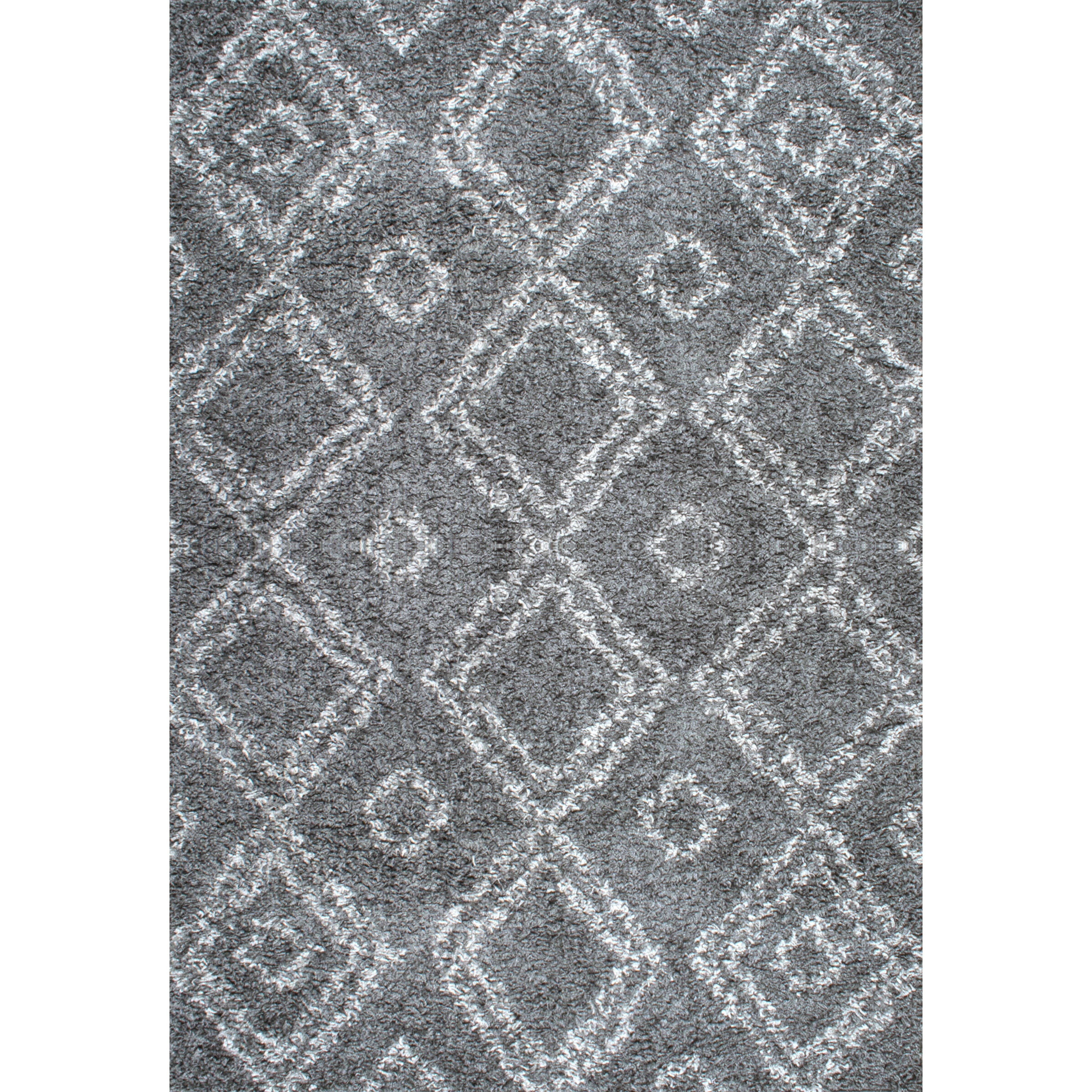 Alexa gray shag area rug wayfair Gray shag rug
