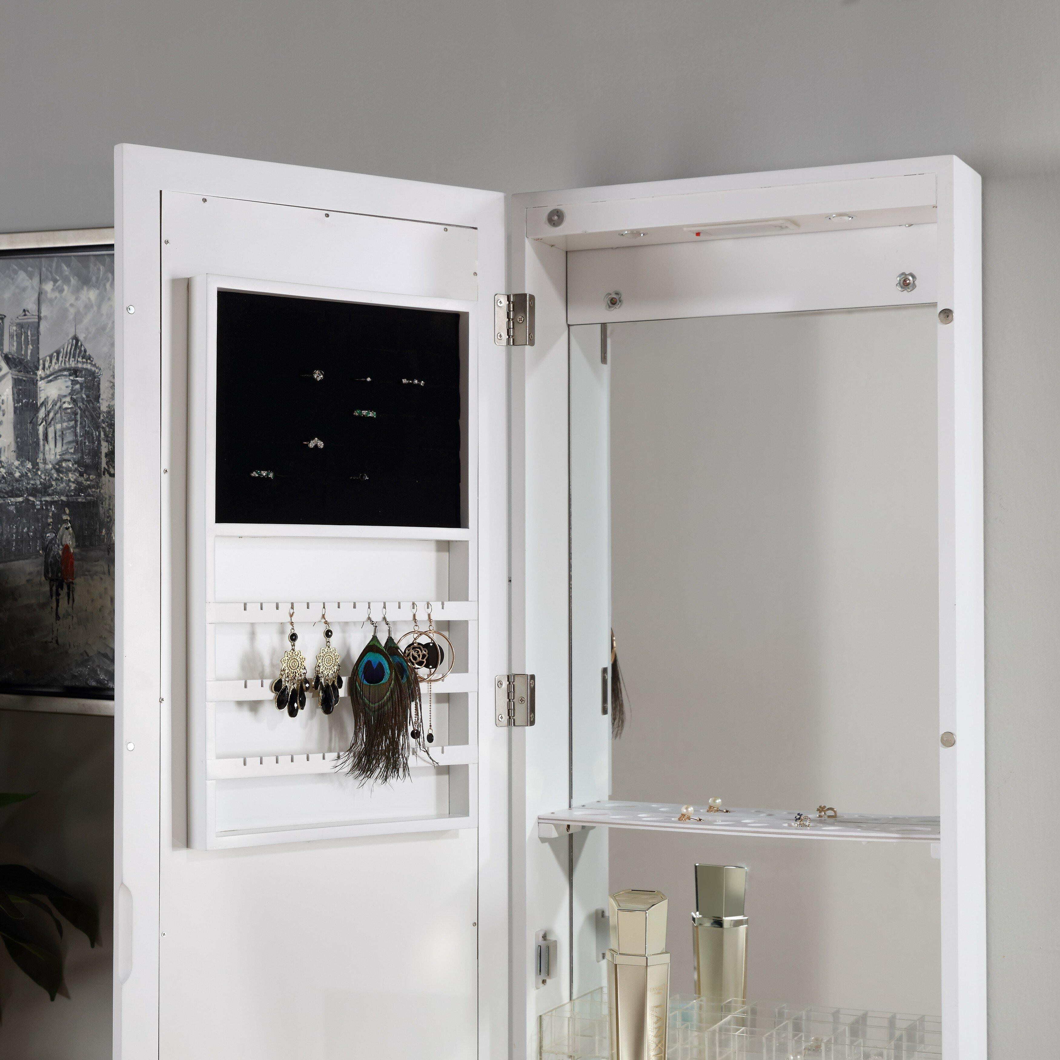 Over The Door Jewelry Armoire: Andrea Jewelry And Makeup Cabinet Over The Door Jewelry