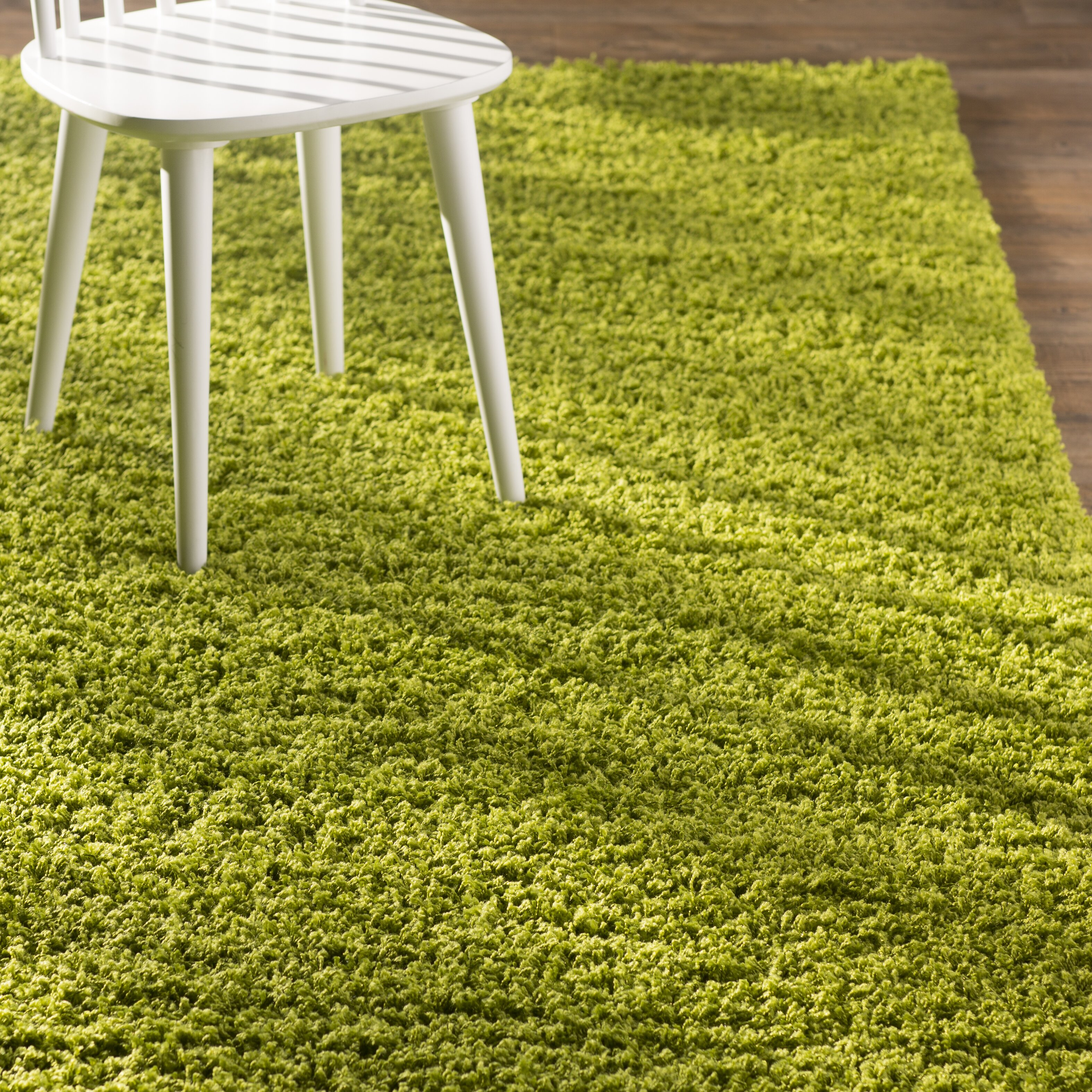 Madison Basic Apple Green Area Rug