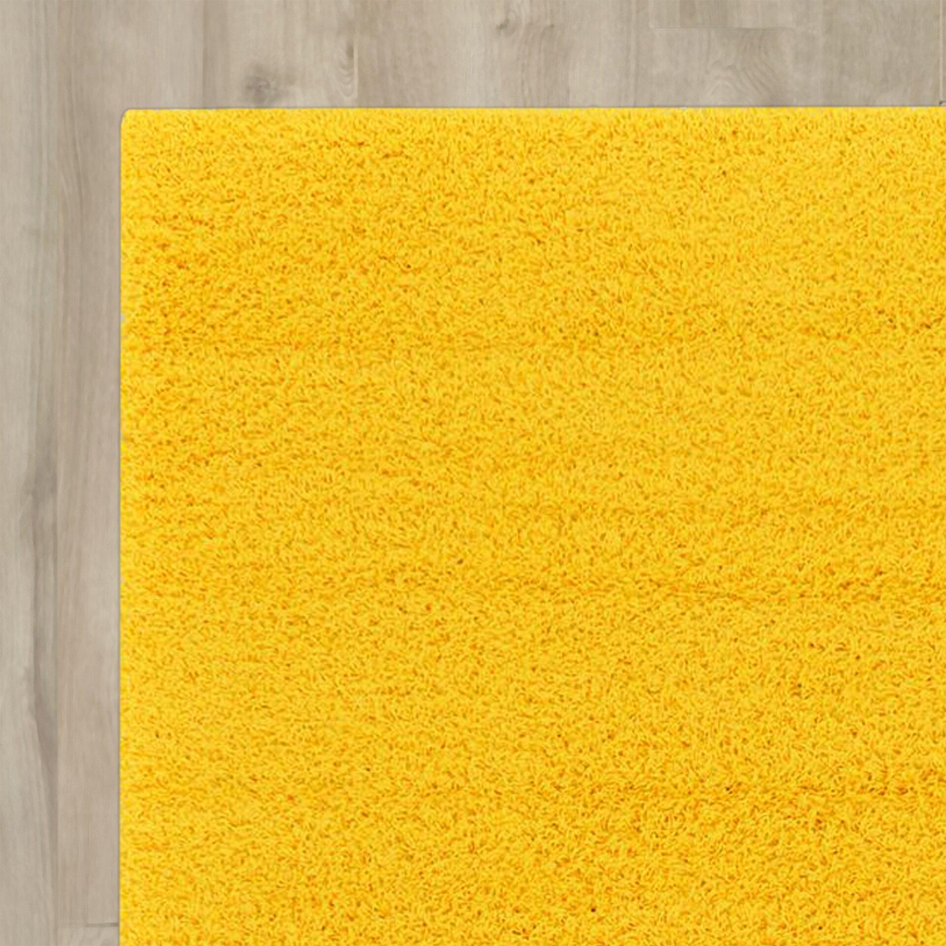 Madison Basic Dark Yellow Area Rug Wayfair