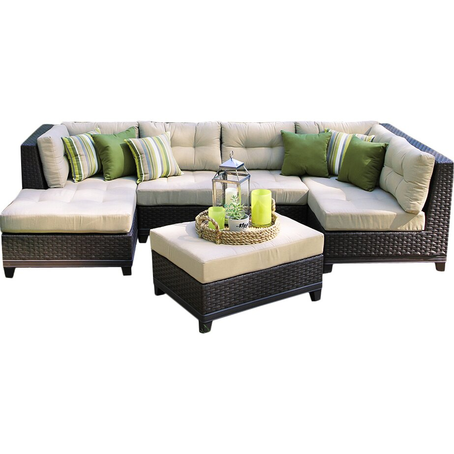 Ae Outdoor Hillborough 4 Piece Sectional With Cushions