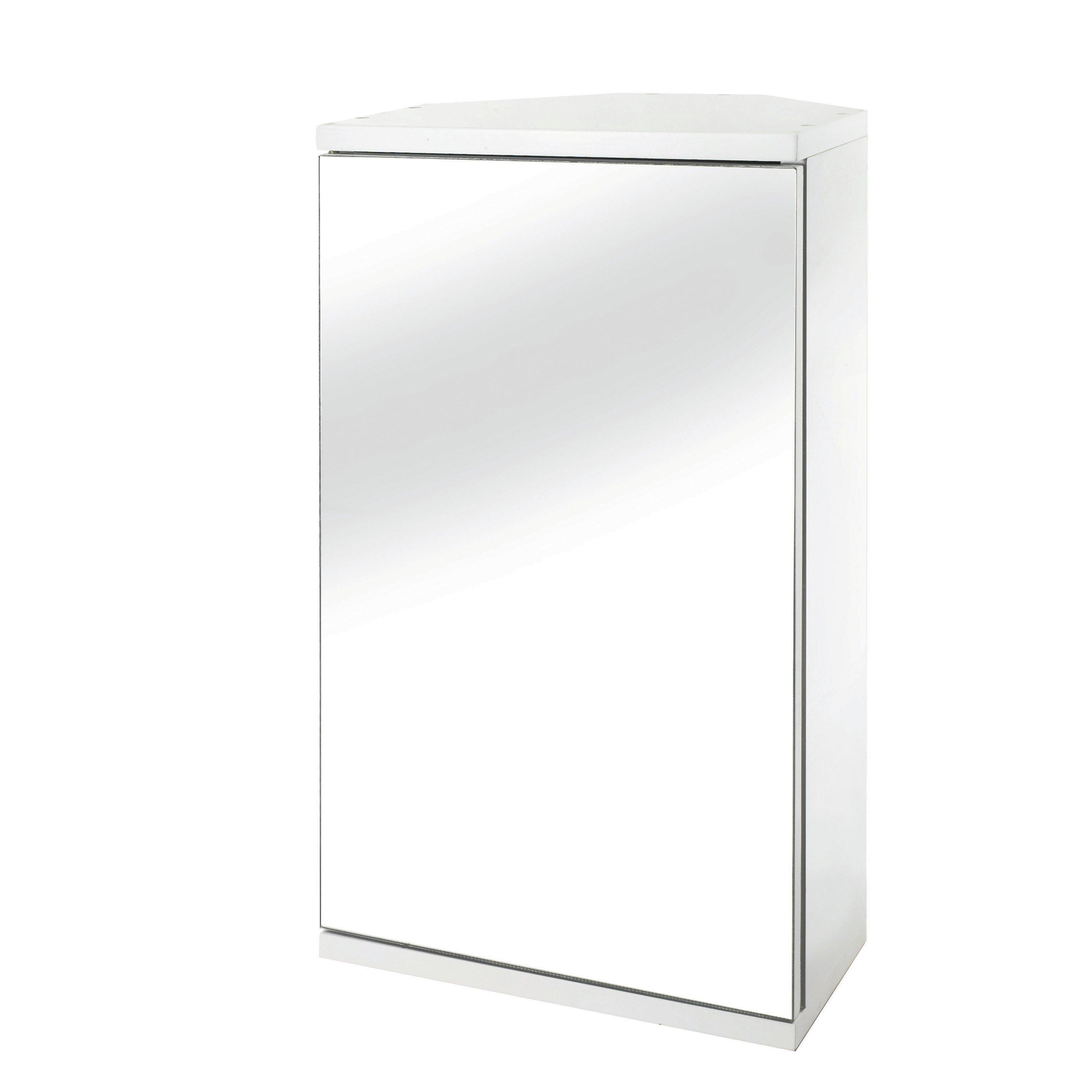 Simplicity 30cm x 50cm corner mount mirror cabinet for Miroir 30 x 50