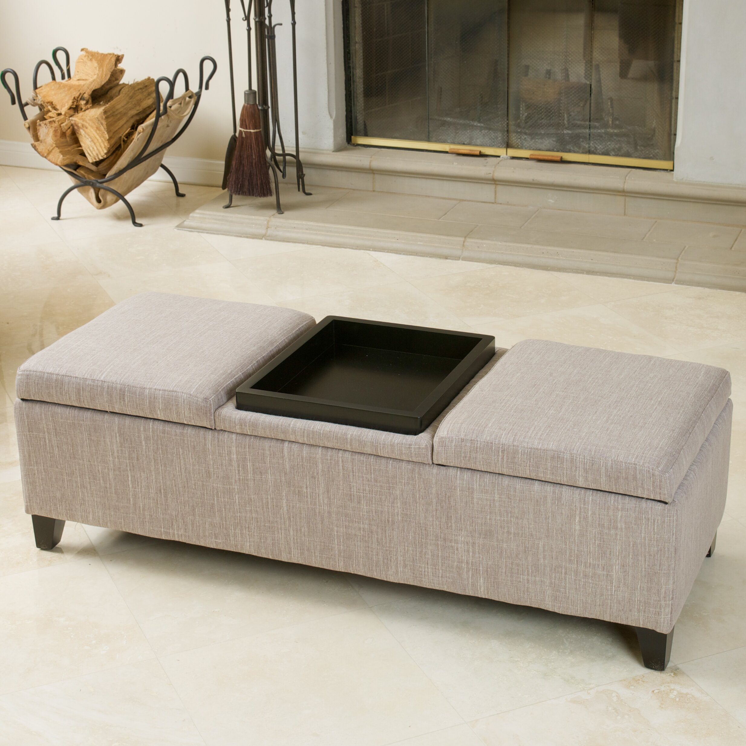 Henderson Upholstered Fabric Storage Ottoman Wayfair