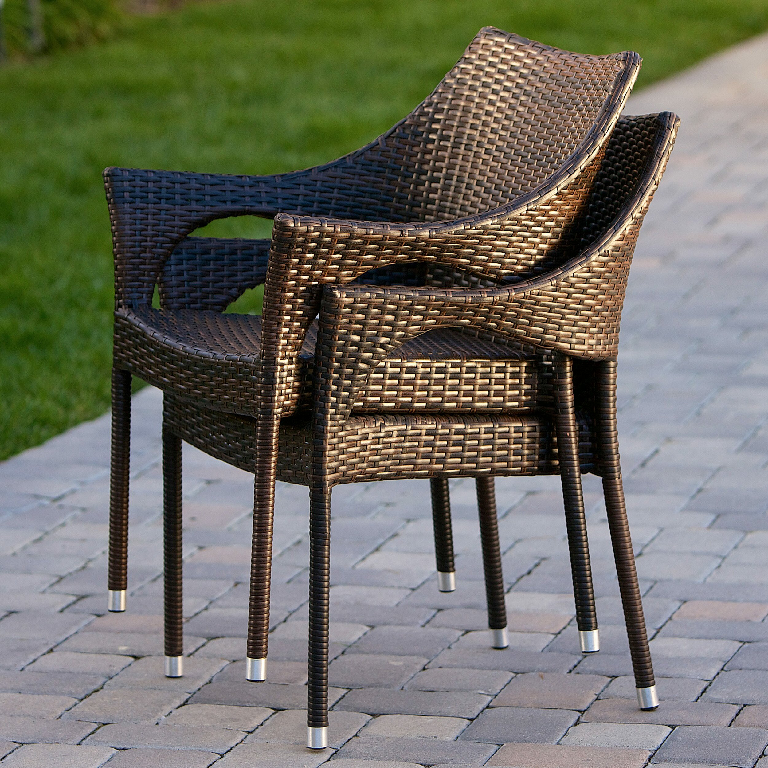 ... Furniture ... Wicker/Rattan Patio Lounge Chairs Home Loft Concepts SKU