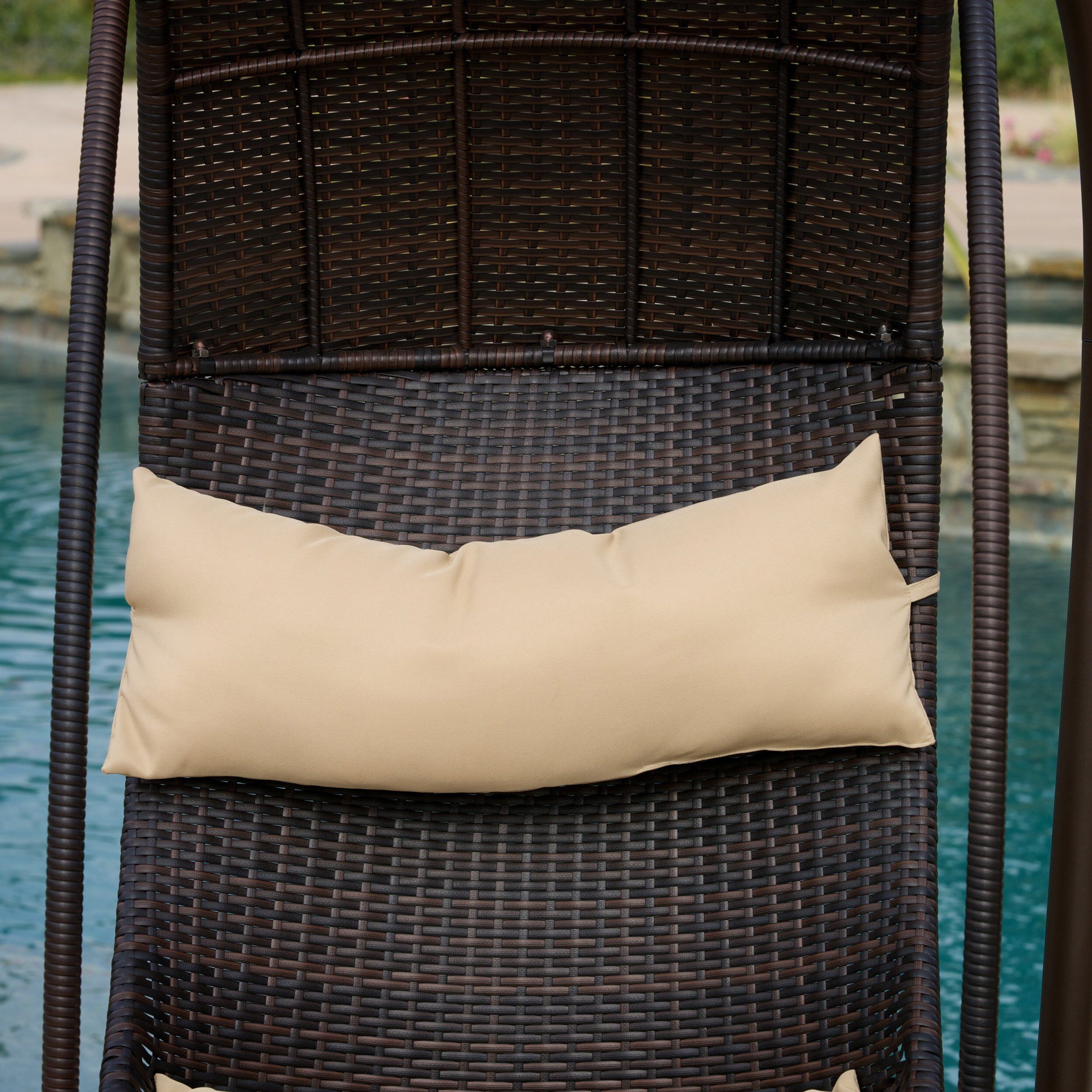 Home Loft Concepts Moorea Wicker Swinging Lounge Chair
