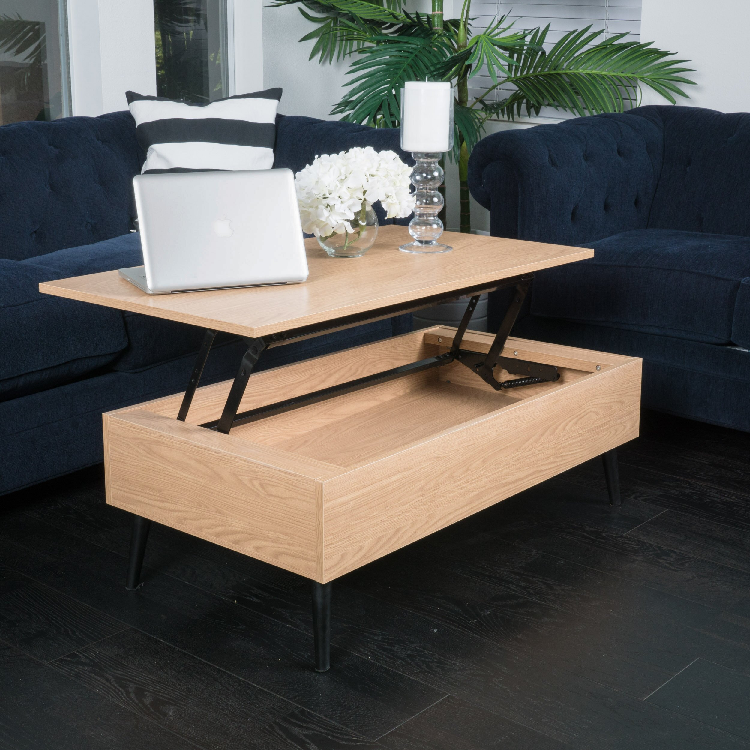 Espresso Coffee Table With Storage: Home Loft Concepts Henry Coffee Table With Lift Top