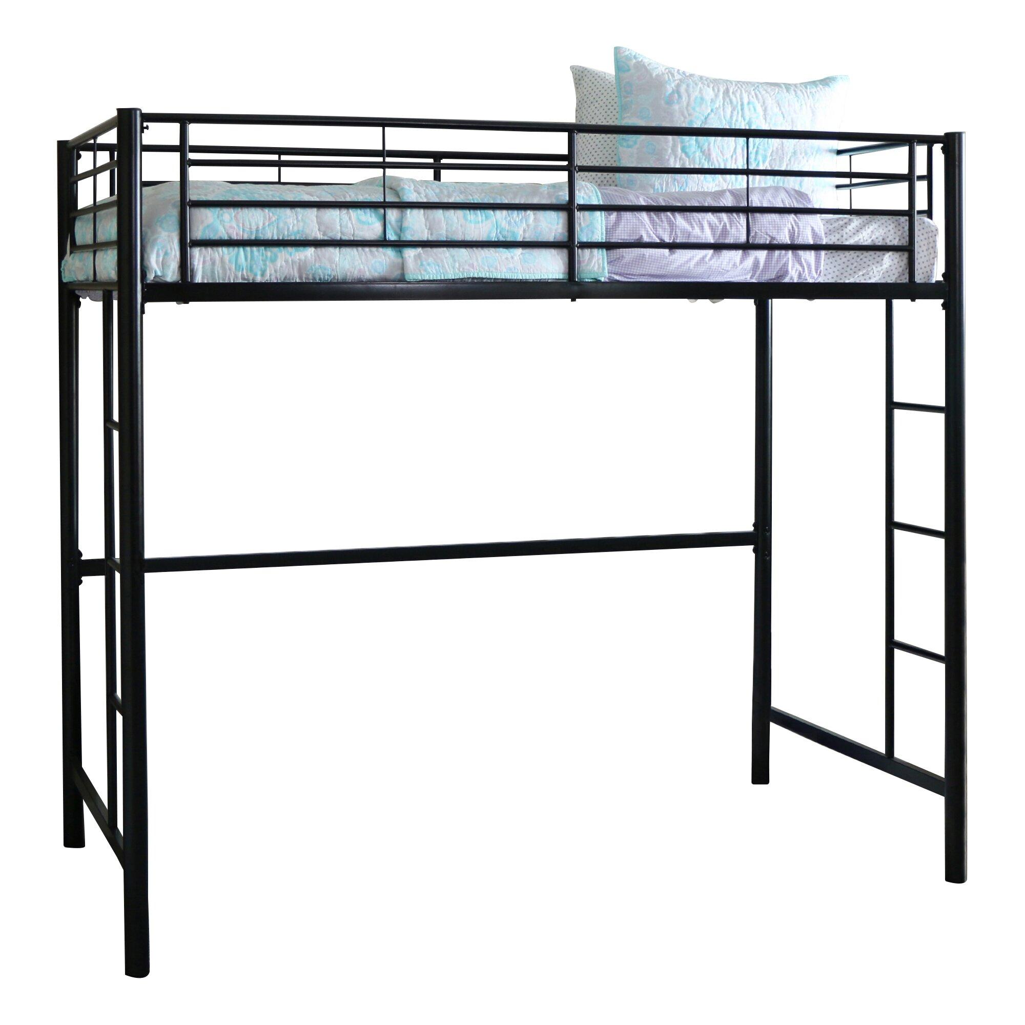 Home Loft Concepts Metal Twin Loft Bed Amp Reviews Wayfair