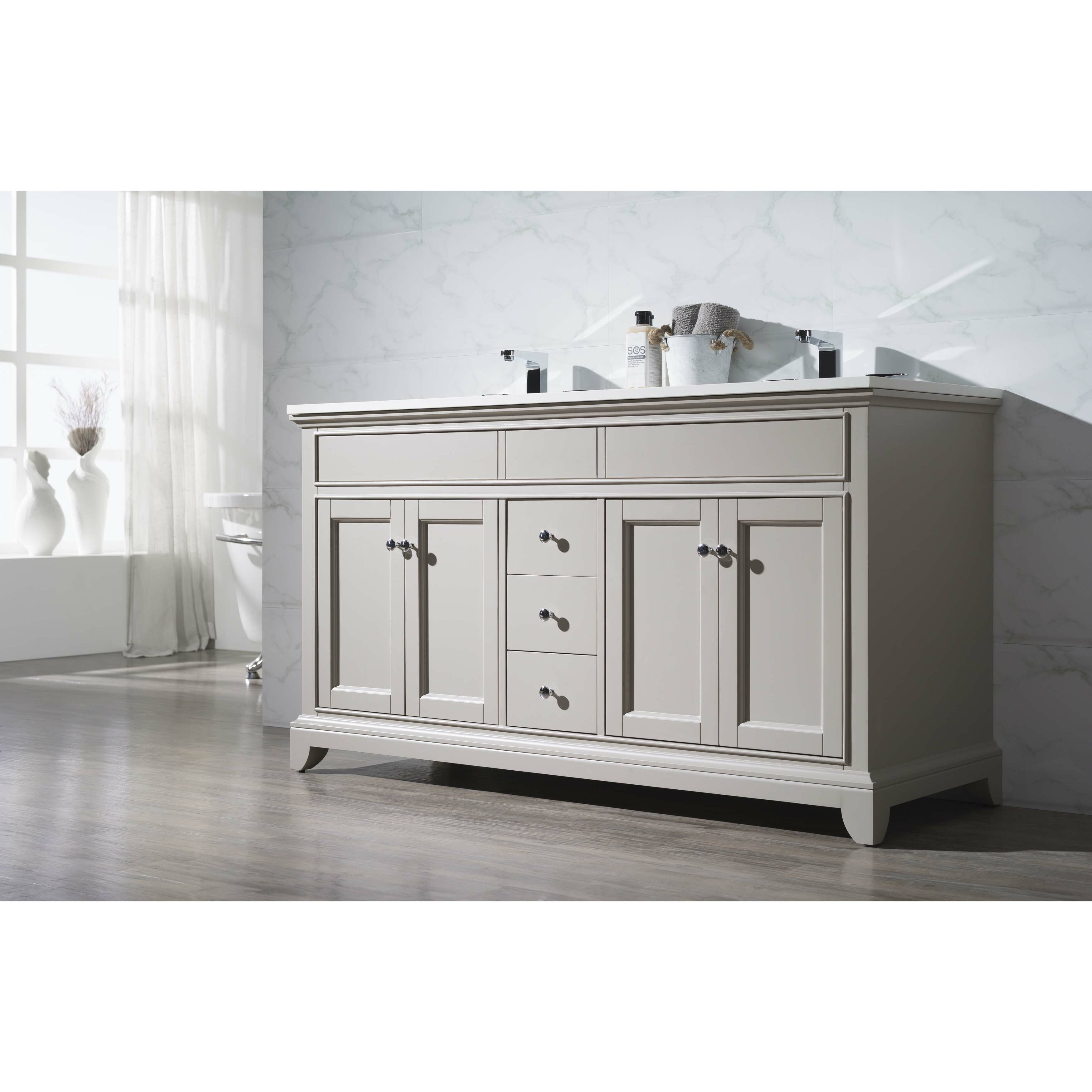 Home Loft Concepts 59 Double Sink Bathroom Vanity Set