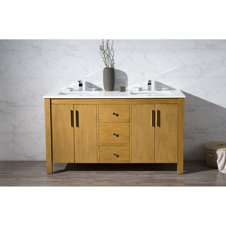 Windsor 59 Double Sink Bathroom Vanity Set Wayfair