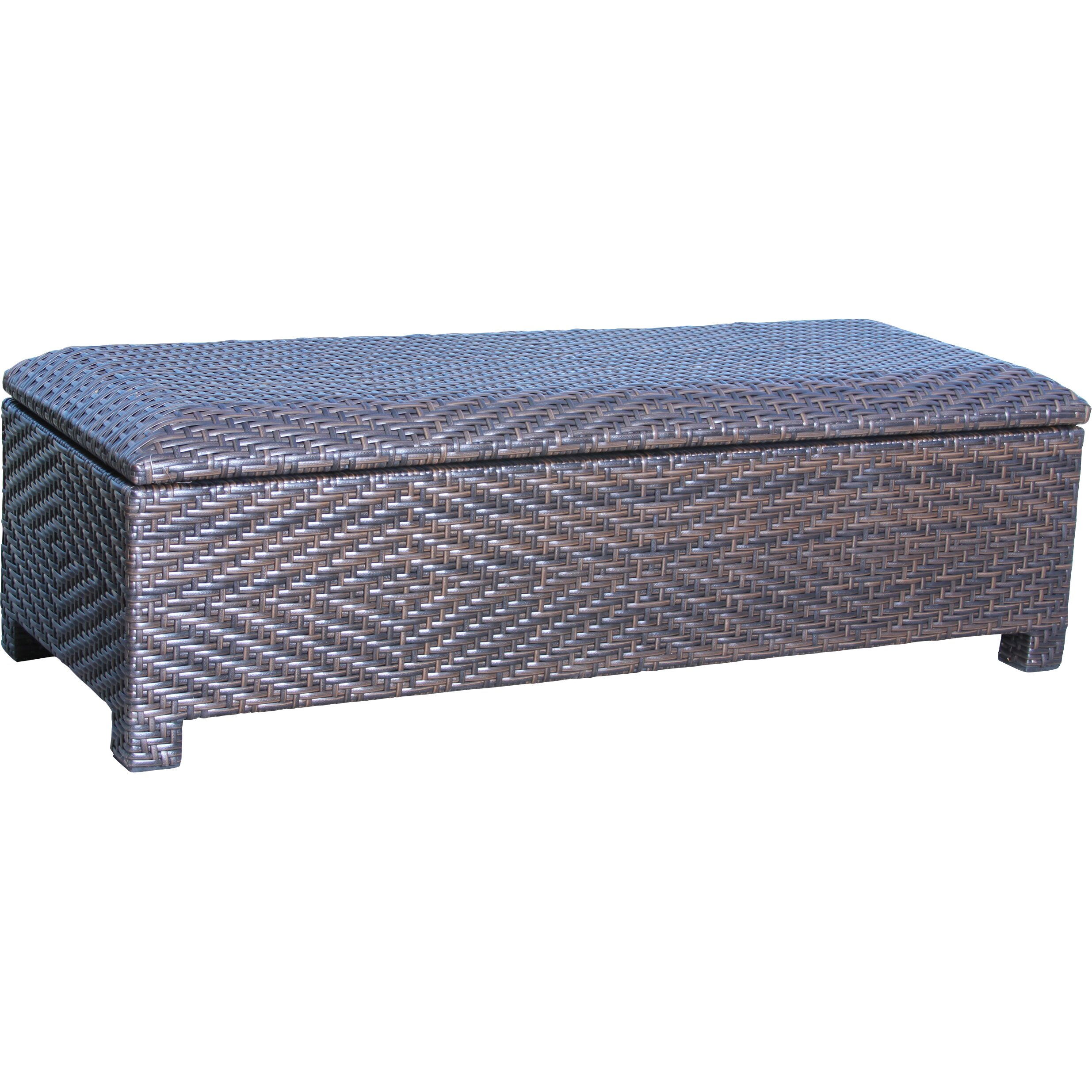Home loft concepts casarano 30 gallon wicker storage bench reviews wayfair 30 bench