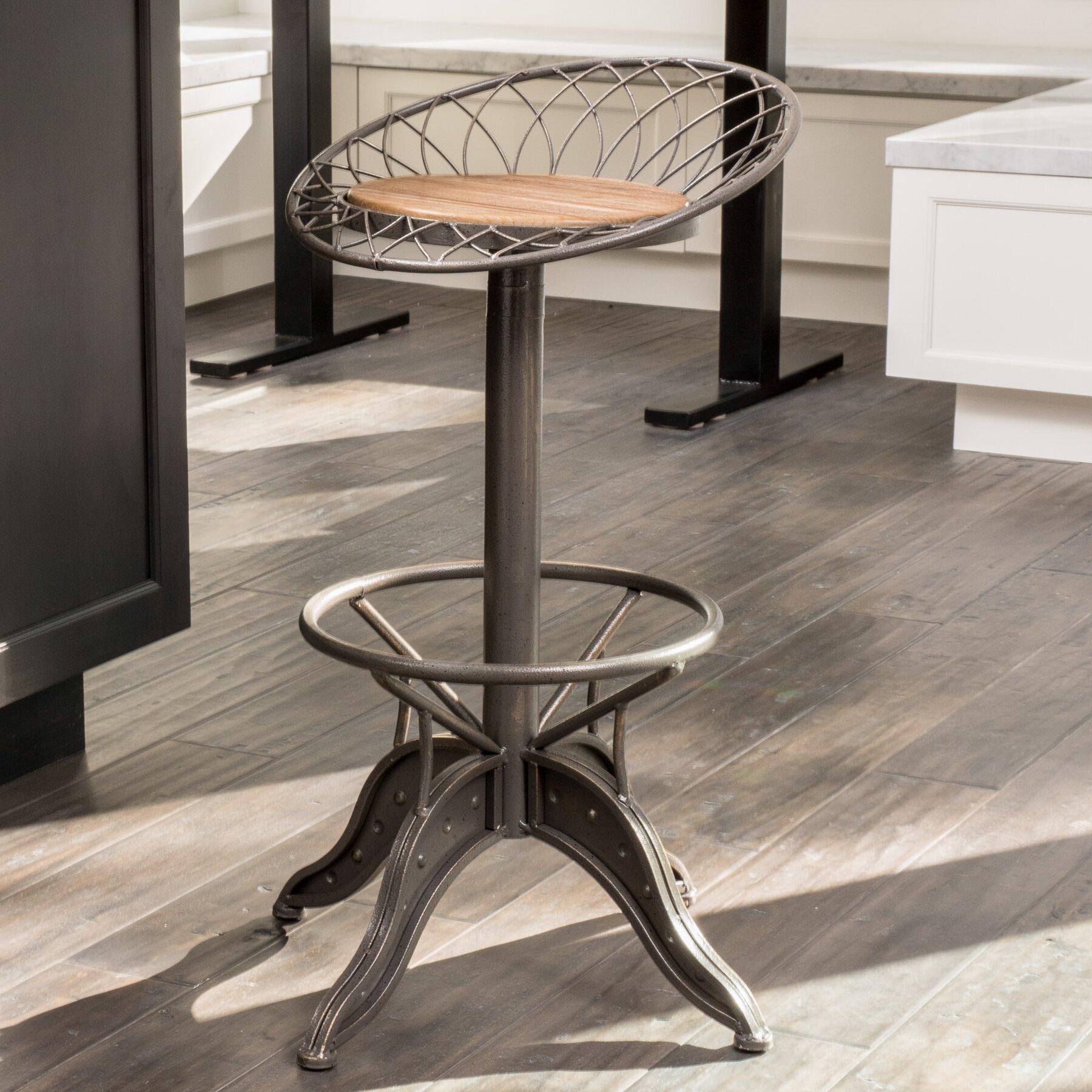 adjustable height swivel bar stool wayfair. Black Bedroom Furniture Sets. Home Design Ideas