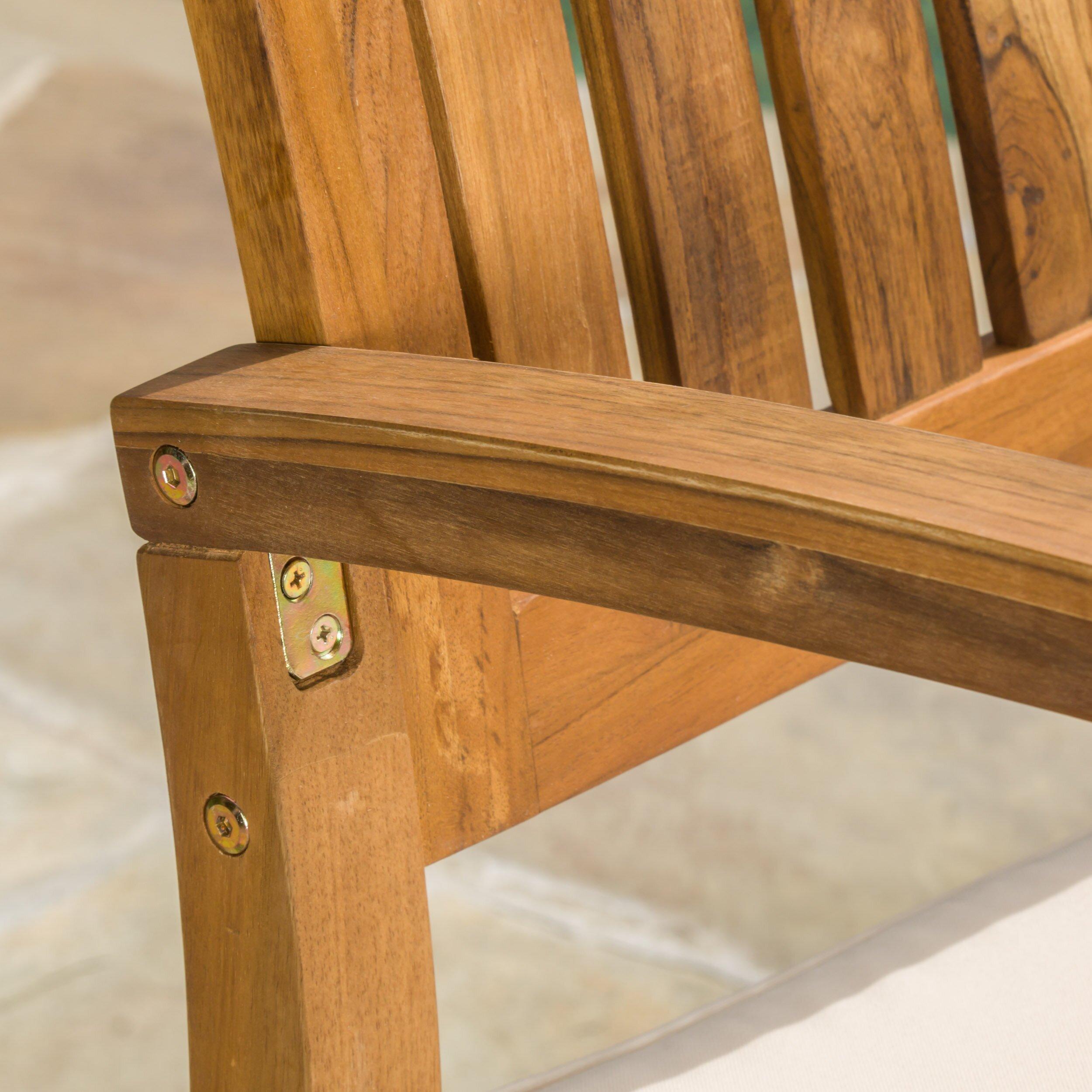 Aegean Acacia Rocking Chair with Cushion by Home Loft Concepts