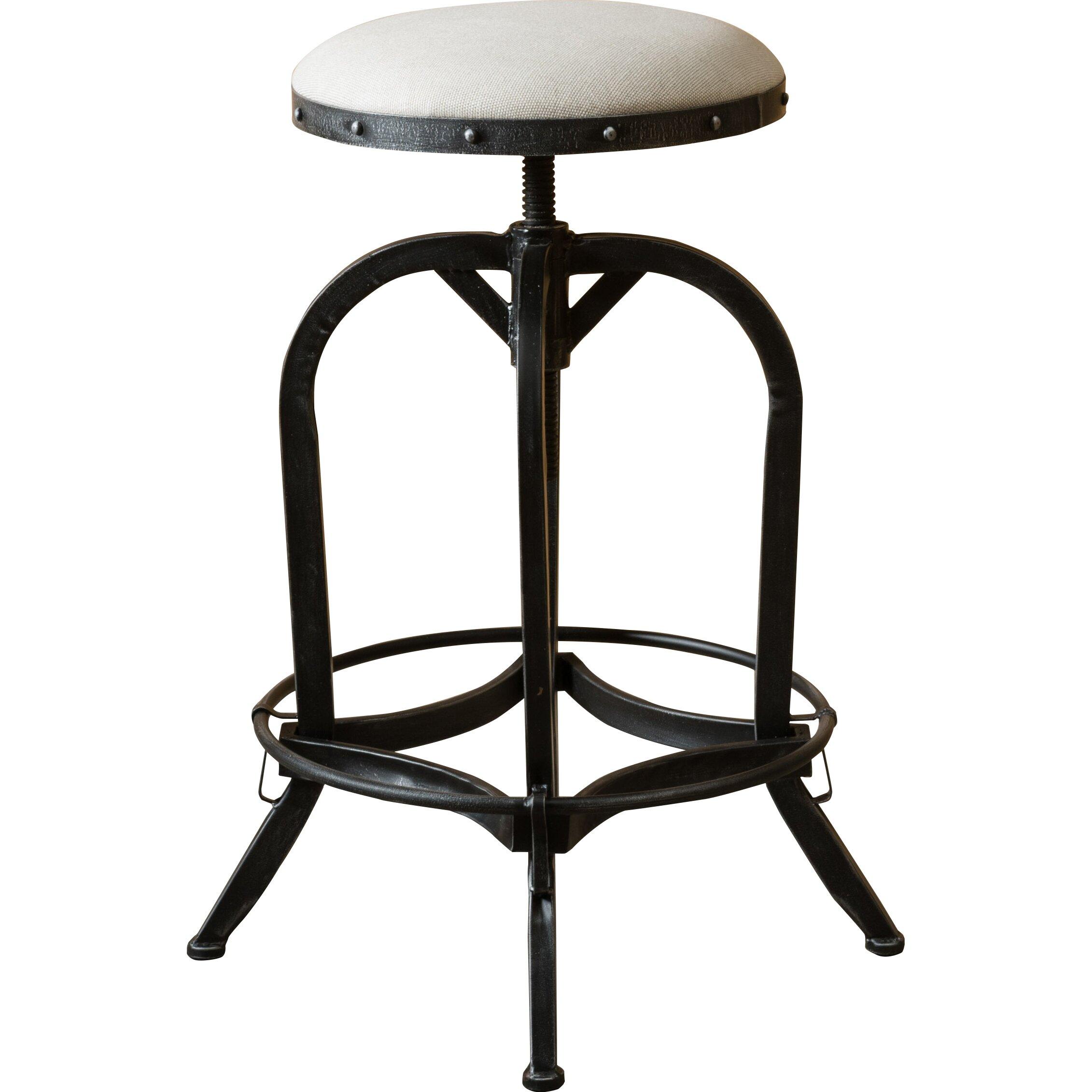 home loft concepts adjustable height swivel bar stool reviews wayfair. Black Bedroom Furniture Sets. Home Design Ideas