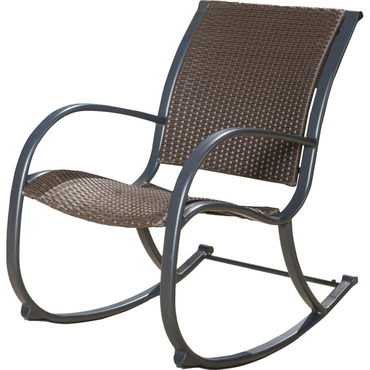... Wicker/Rattan Patio Rocking Chairs Home Loft Concepts SKU: FOME1382