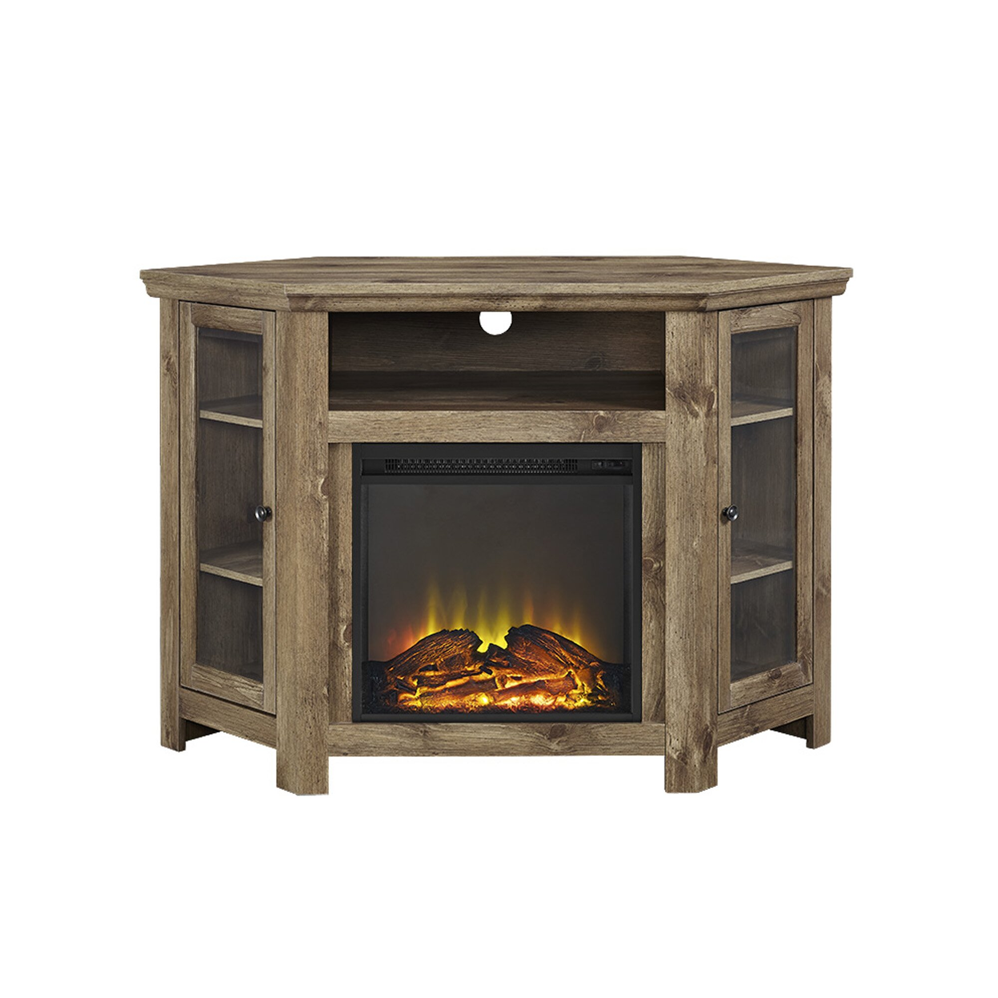 Corner Tv Stand With Electric Fireplace Wayfair