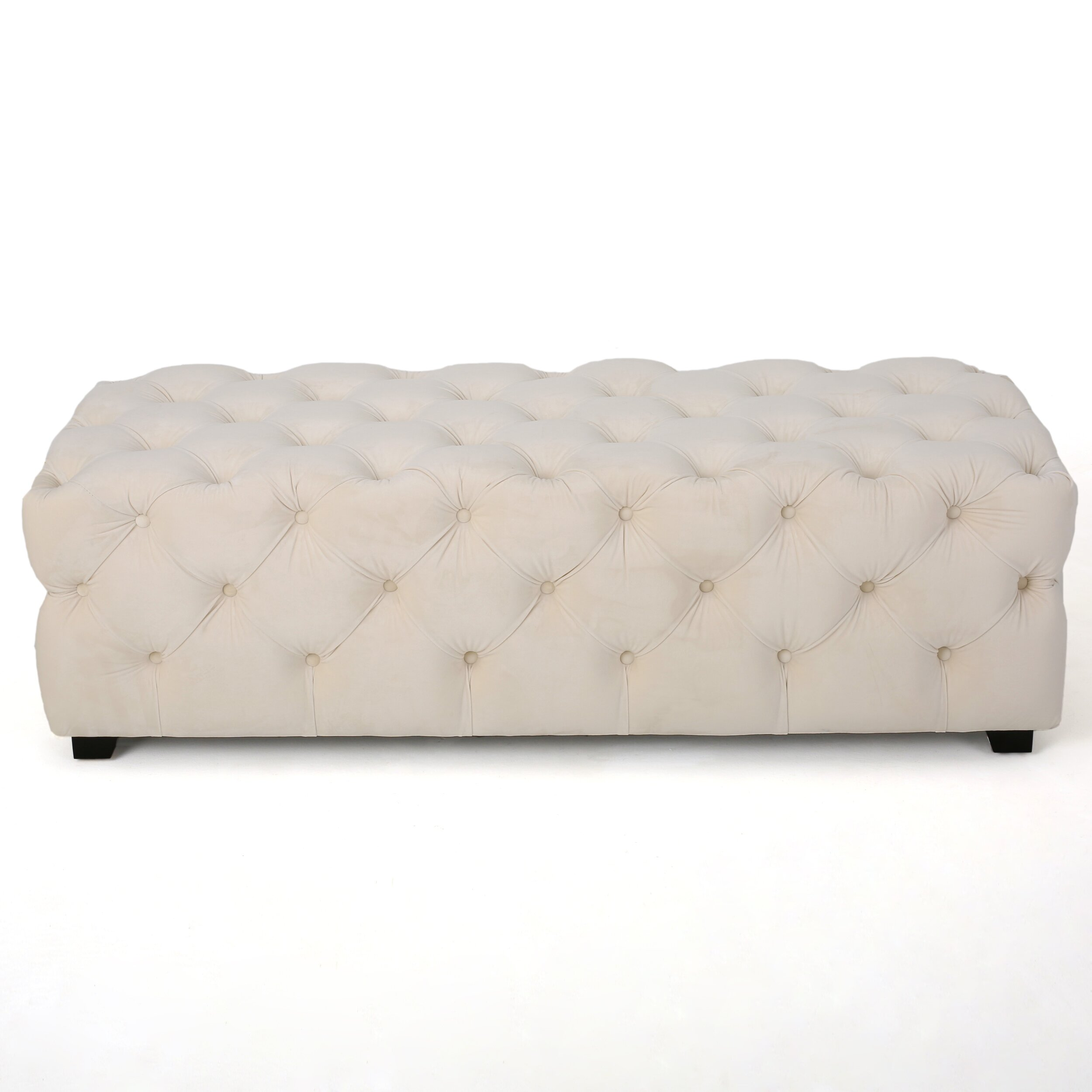 Barrett Tufted Velvet Rectangular Ottoman Wayfair