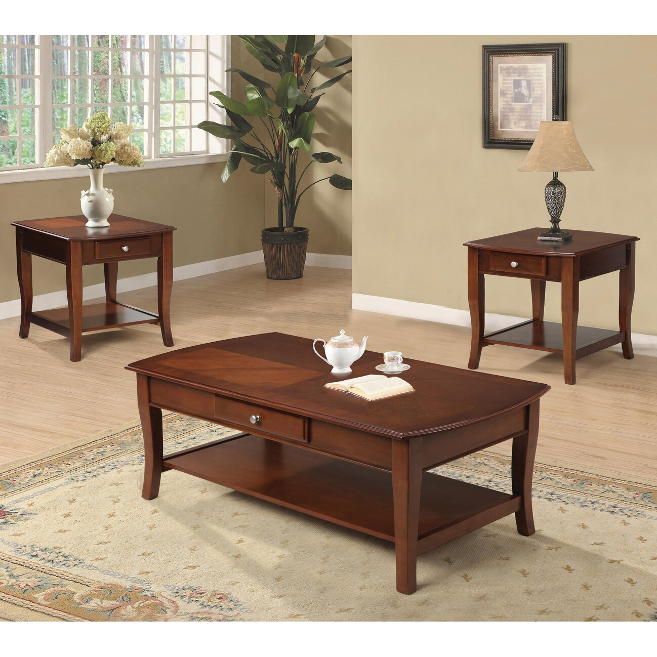 Veropeso 3 Piece Coffee Table Set: 3 Piece Coffee Table Set