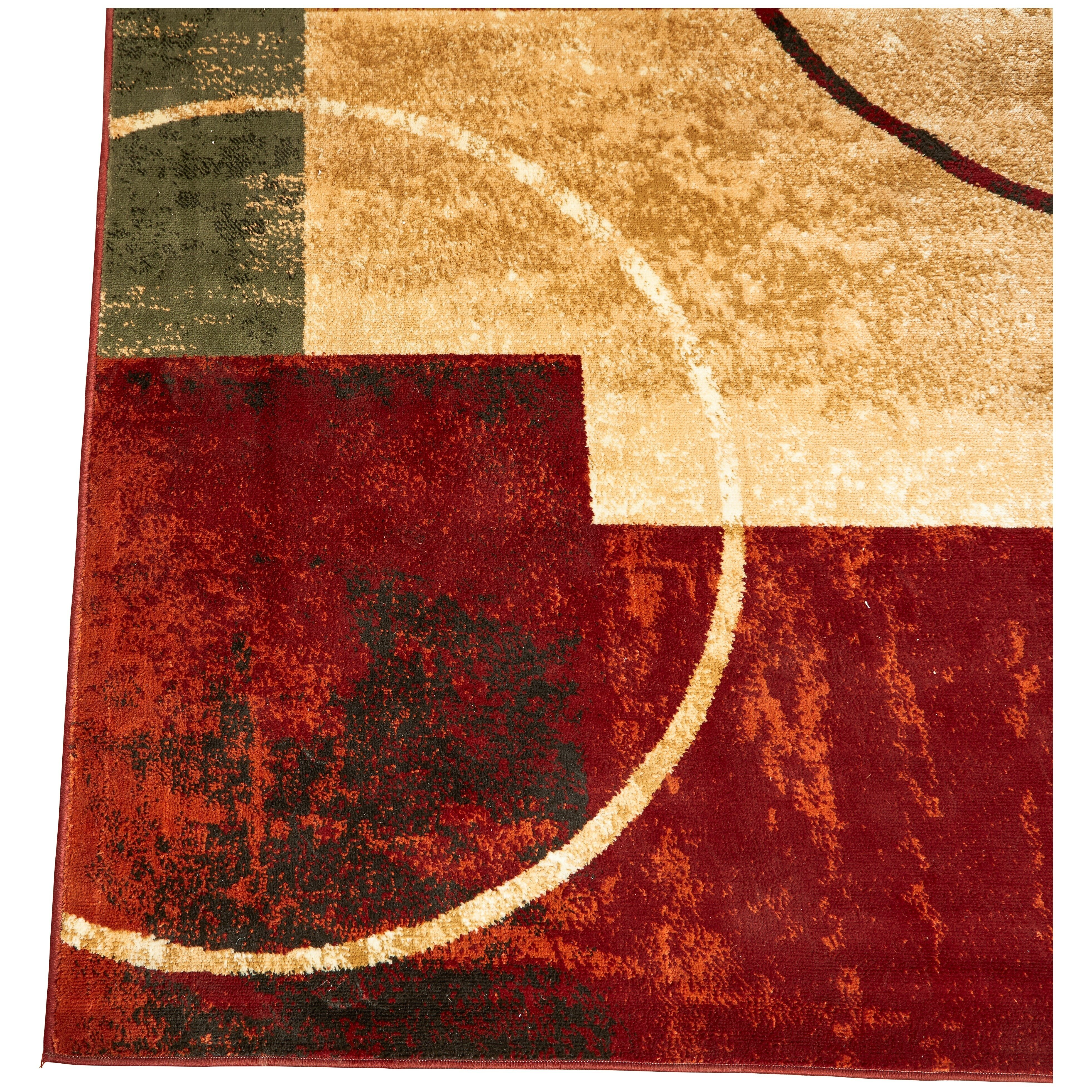 Eileen red and gold area rug wayfair for Red and gold area rugs