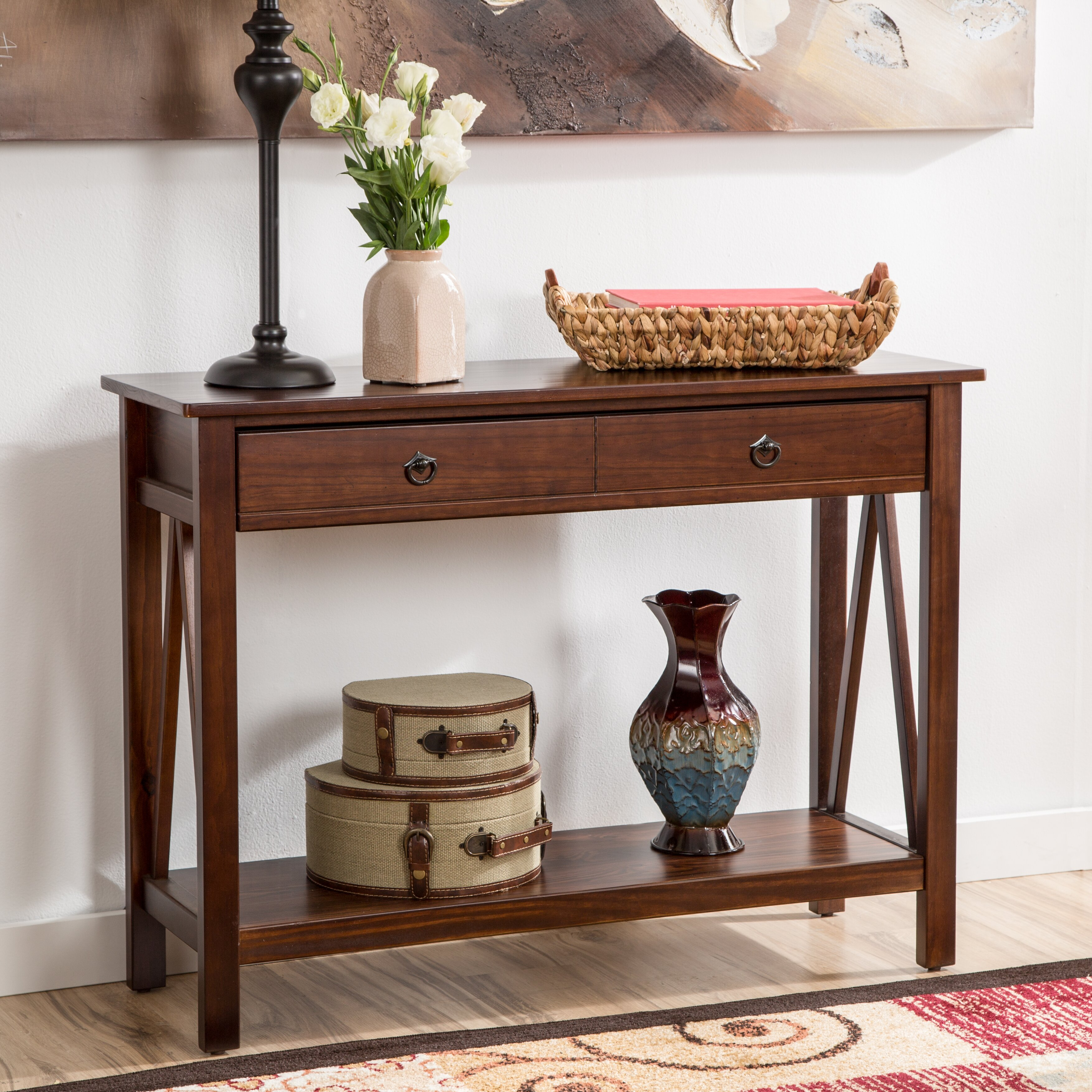 Wayfair Table: Andover Mills Wilda 2 Drawer Console Table & Reviews