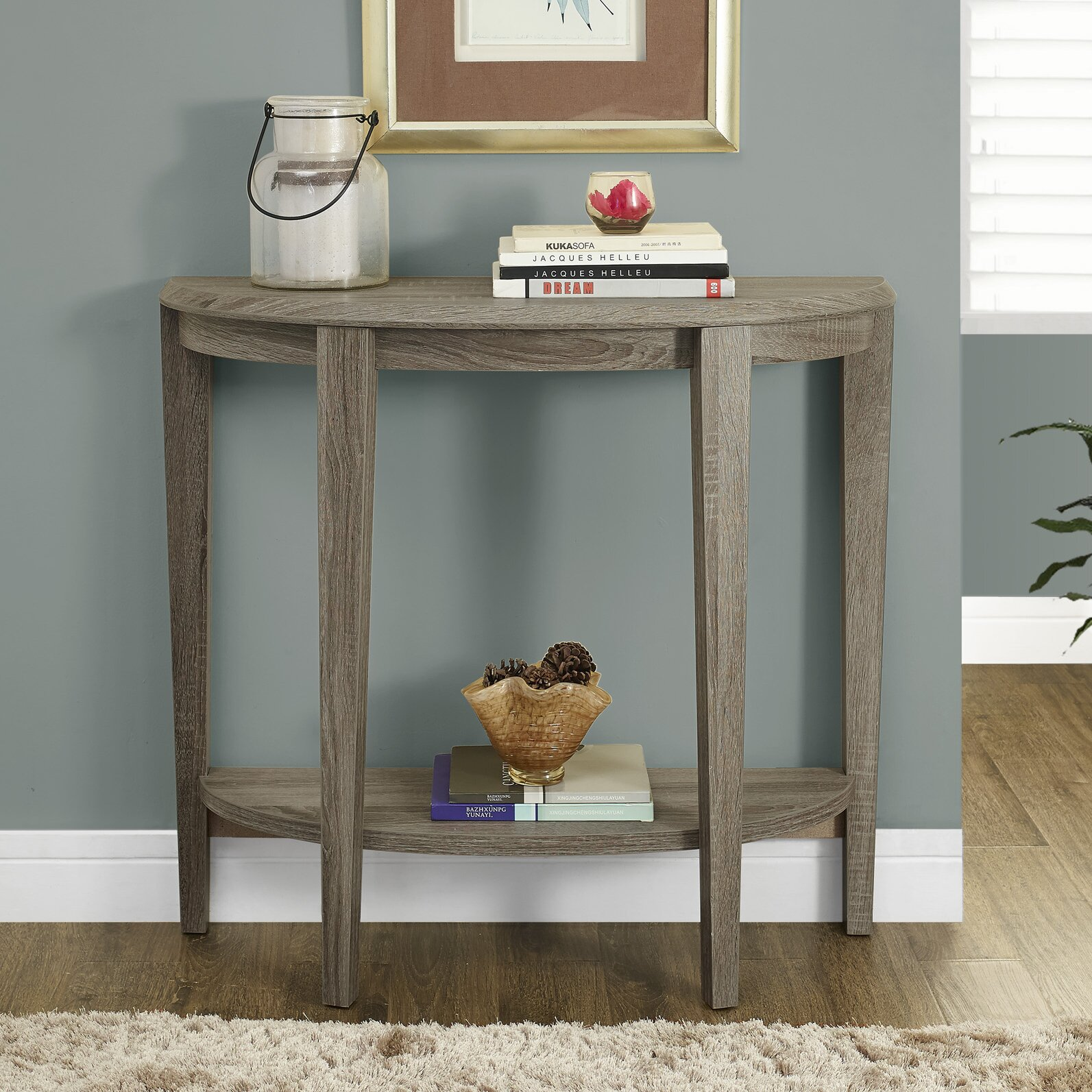 Andover Mills Blakeway Half Moon Console Table Amp Reviews