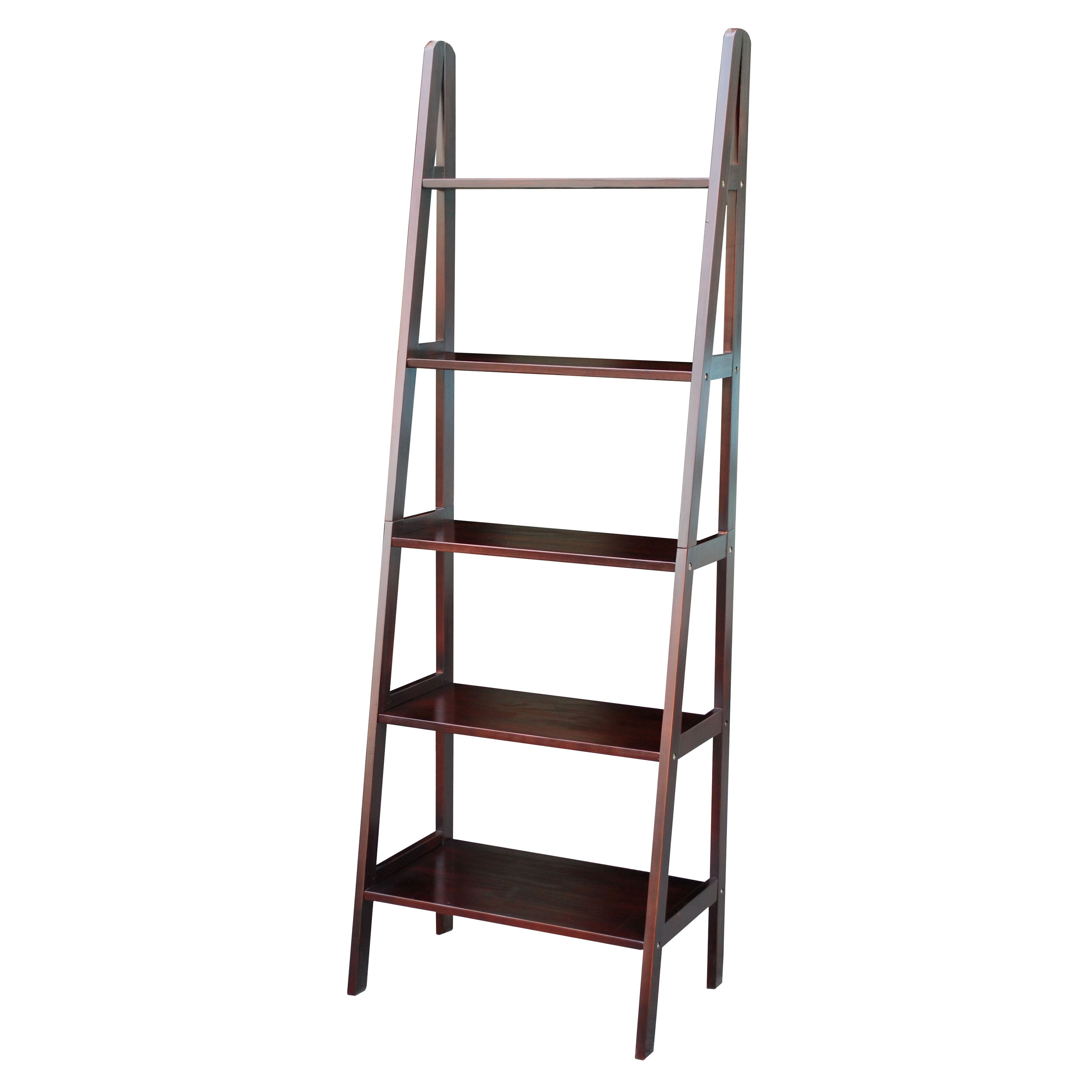 Channing 72 Leaning Bookcase Wayfair