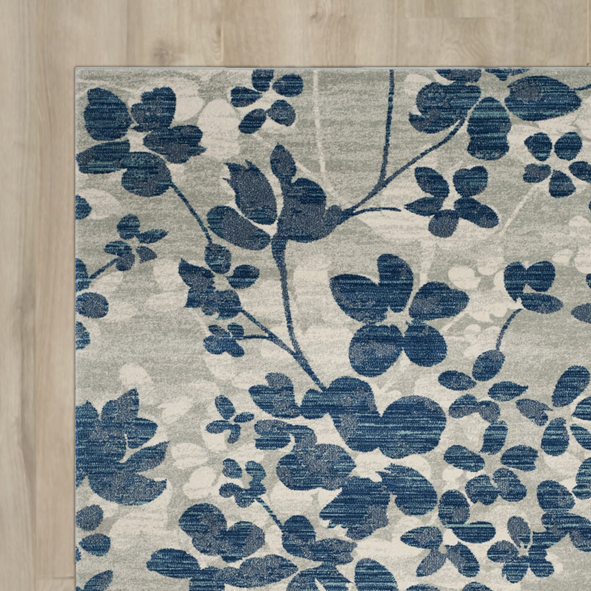 Aegean Grey / Light Blue Area Rug