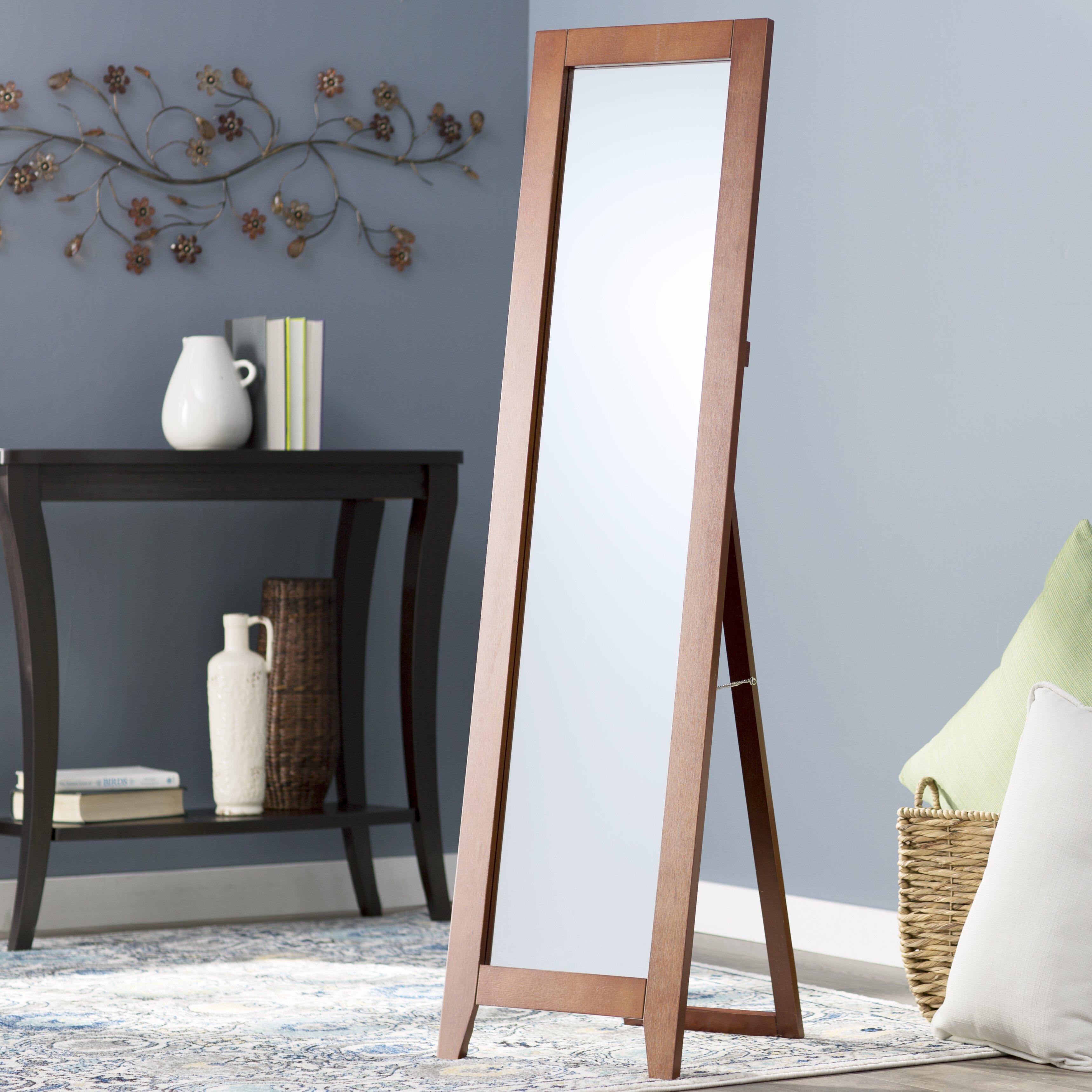 standing full length mirror wayfair supply. Black Bedroom Furniture Sets. Home Design Ideas