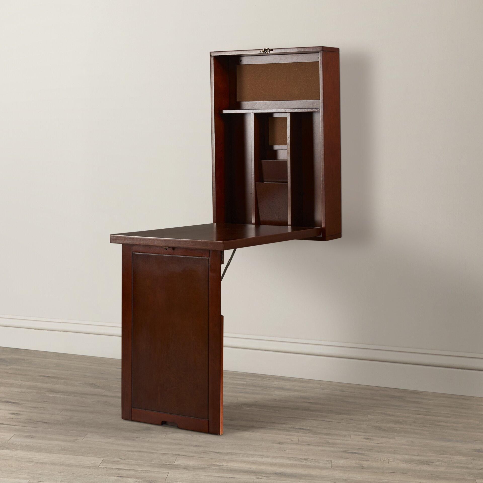 andover mills wennington fold up desk reviews wayfair. Black Bedroom Furniture Sets. Home Design Ideas