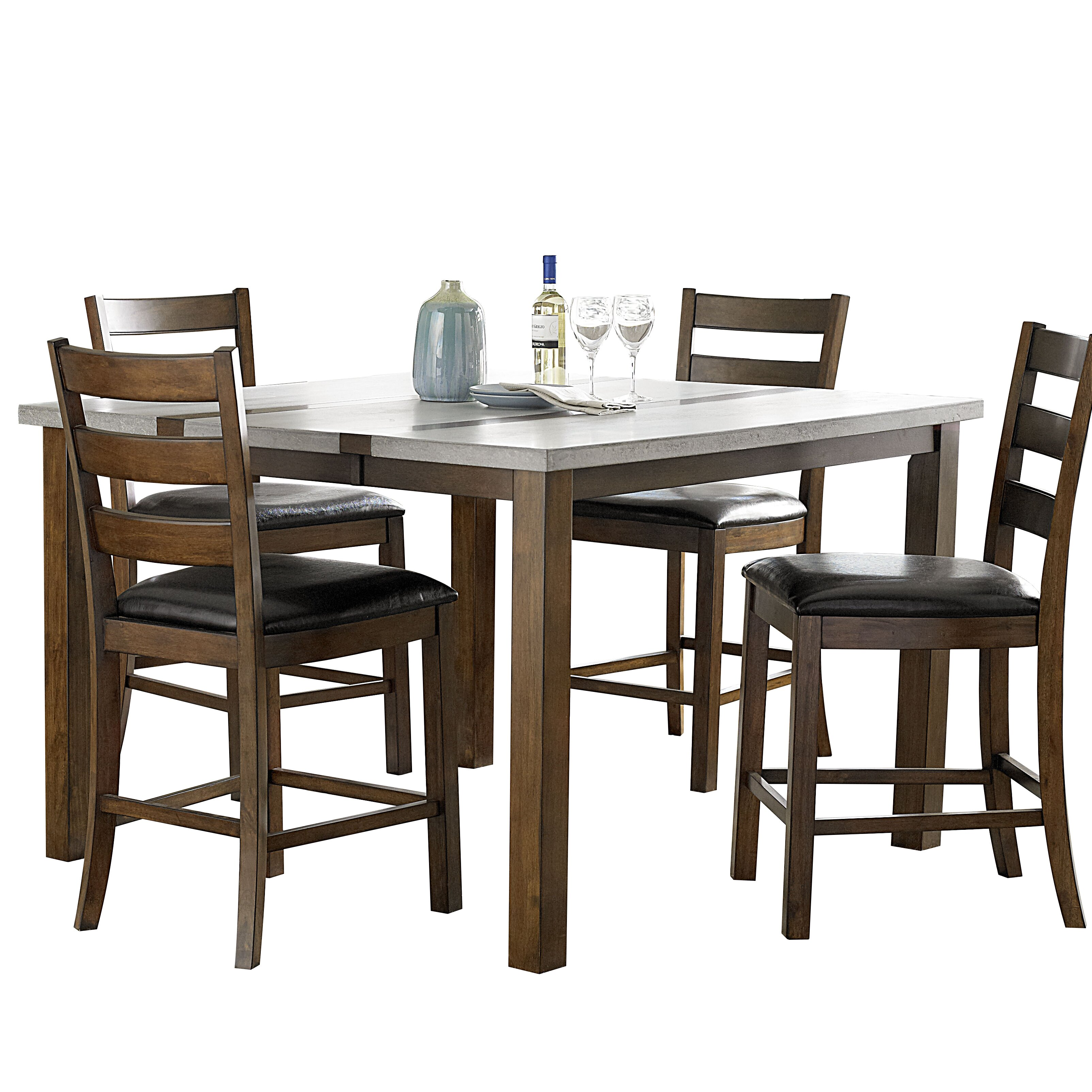 Andover Mills Rollins Extendable Dining Table Reviews: Germaine Counter Height Extendable Dining Table