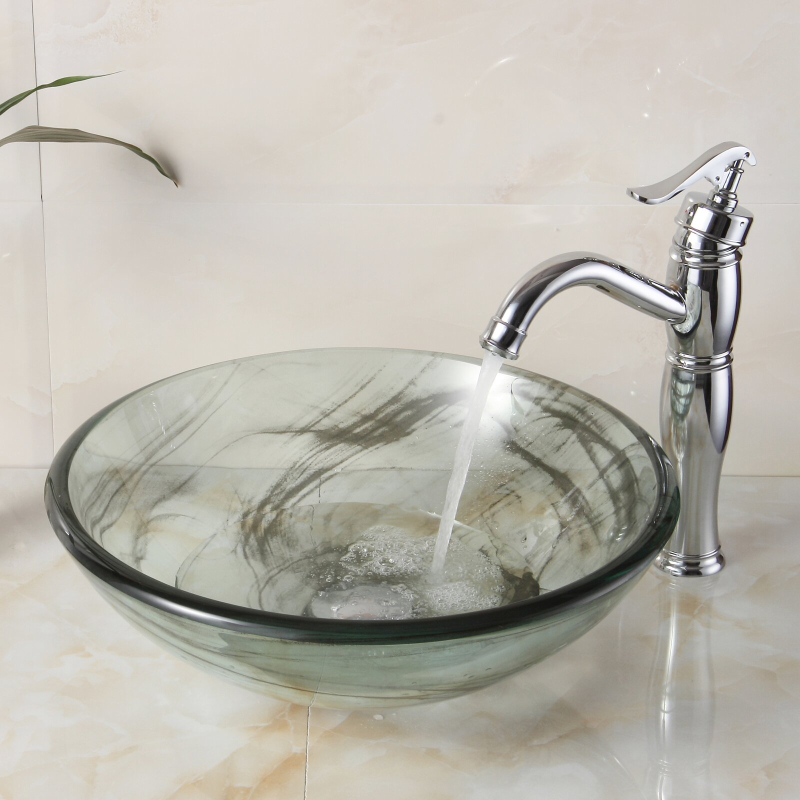 layered tempered glass bowl vessel bathroom sink reviews wayfair