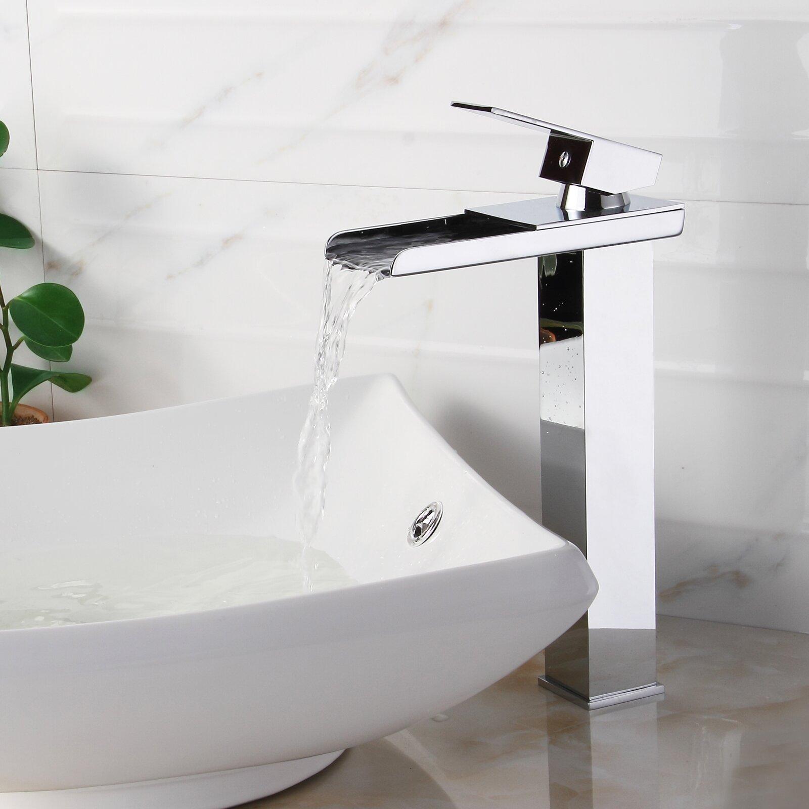 Elite Single Handle Bathroom Waterfall Faucet Amp Reviews