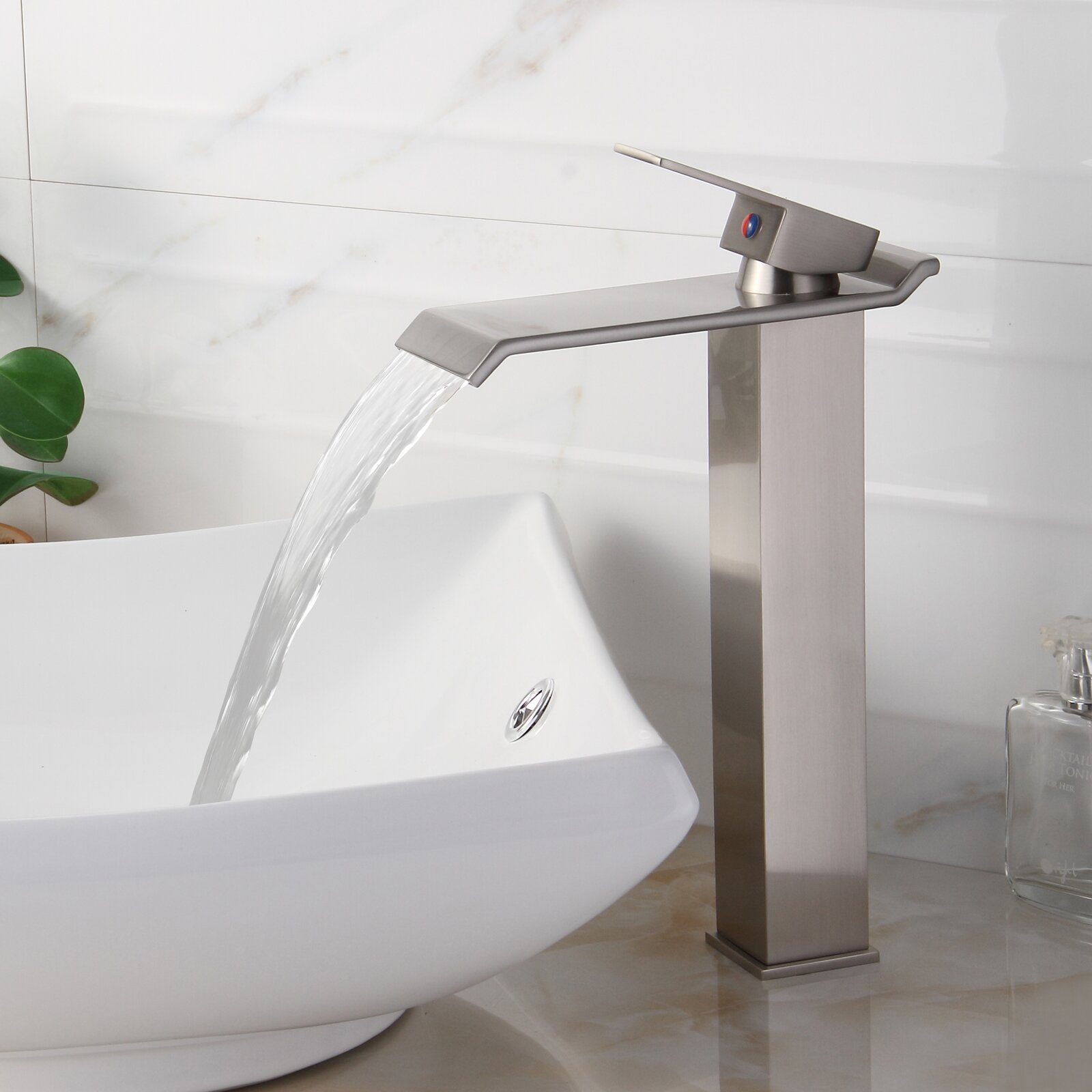 Single Handle Waterfall Bathroom Faucet : Elite Single Handle Bathroom Waterfall Faucet & Reviews Wayfair