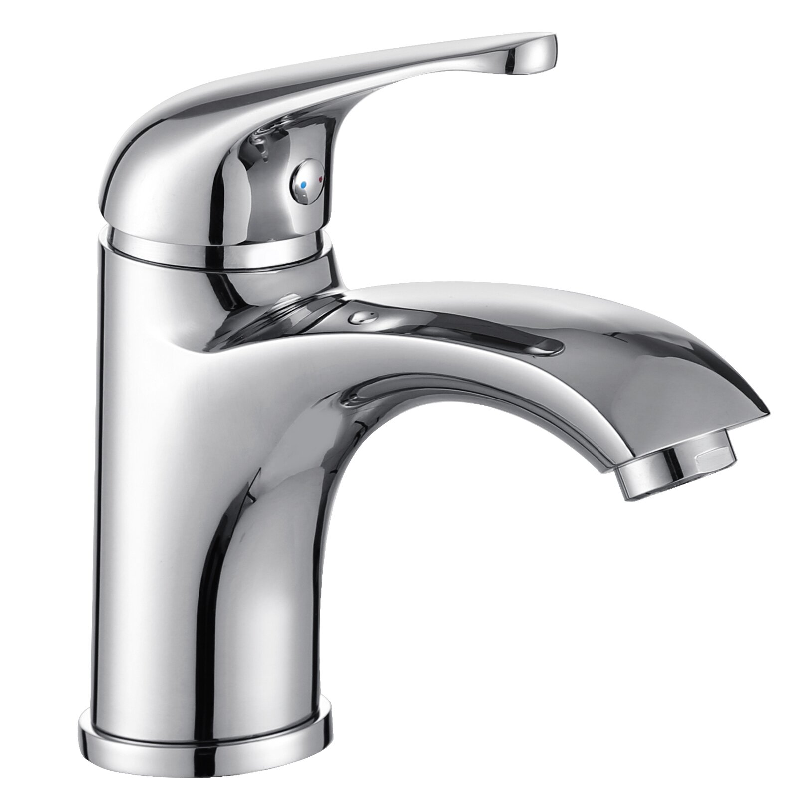 single handle bathroom faucet with edged spout wayfair