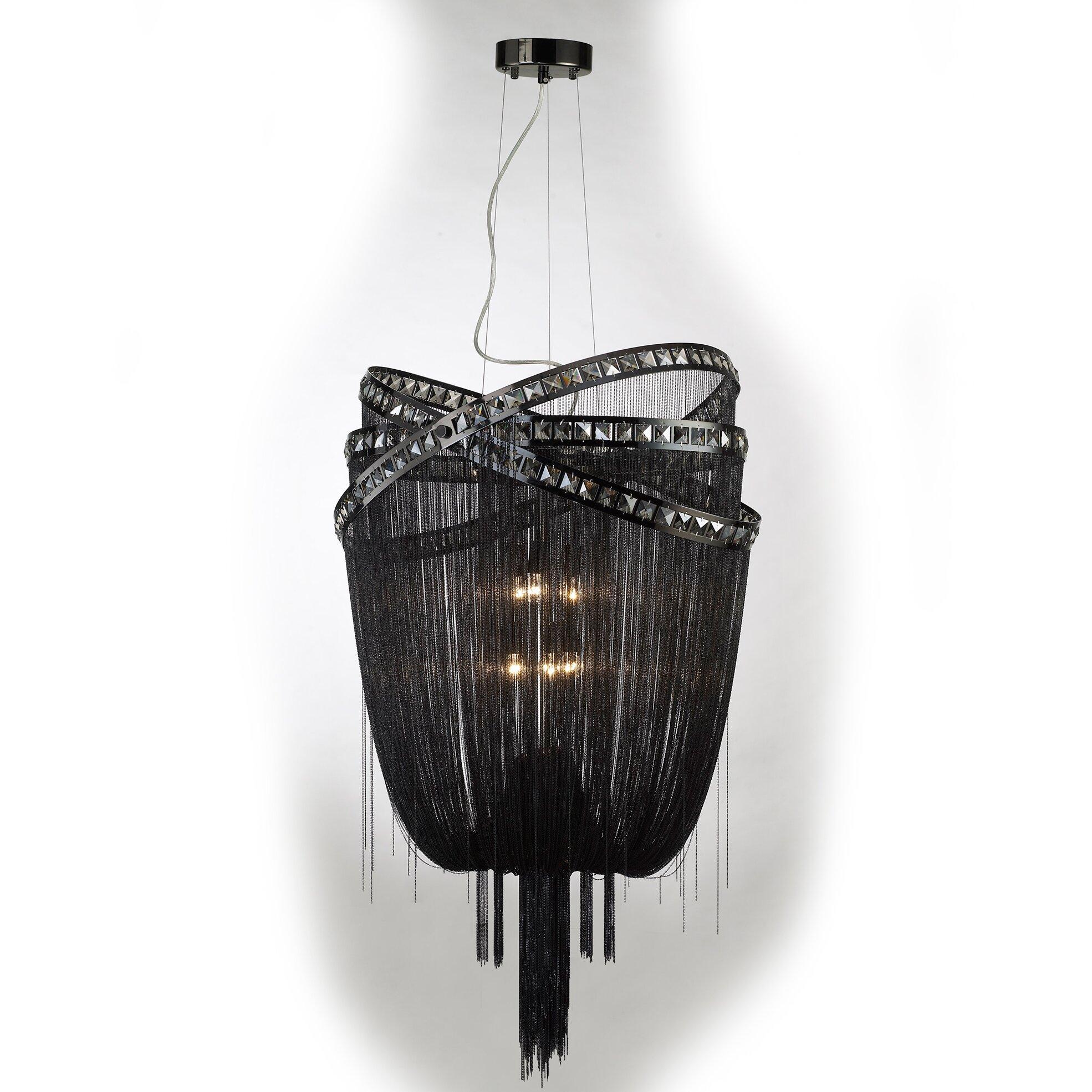 Wilshire drive 6 light crystal chandelier wayfair for 6 light crystal chandelier